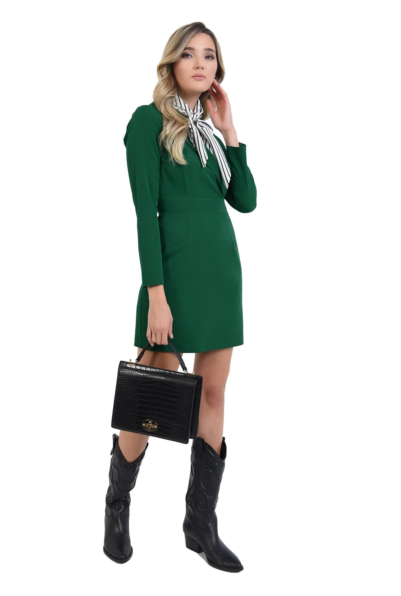 3 - rochie stil blazer, scurta, verde