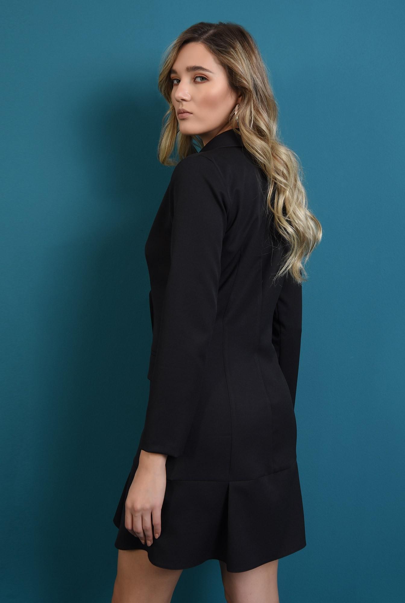 1 - rochie neagra, scurta, cu nasturi, Poema