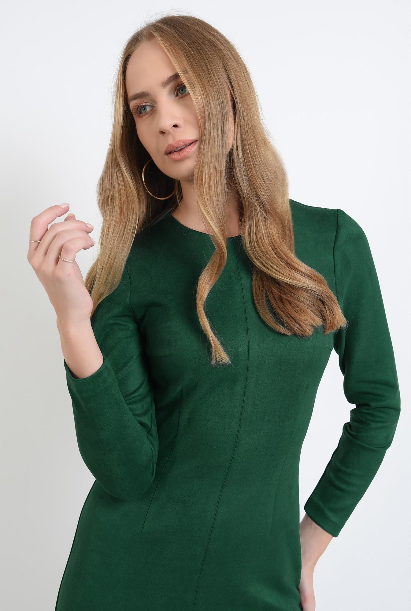 2 - rochie conica, verde, midi, Poema