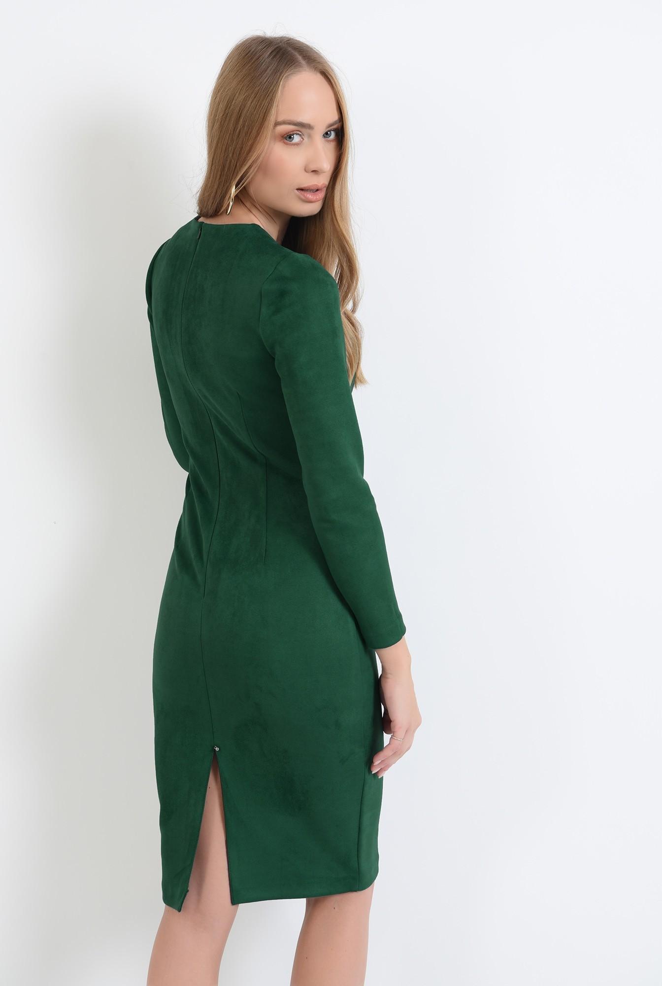1 - rochie conica, verde, midi, Poema