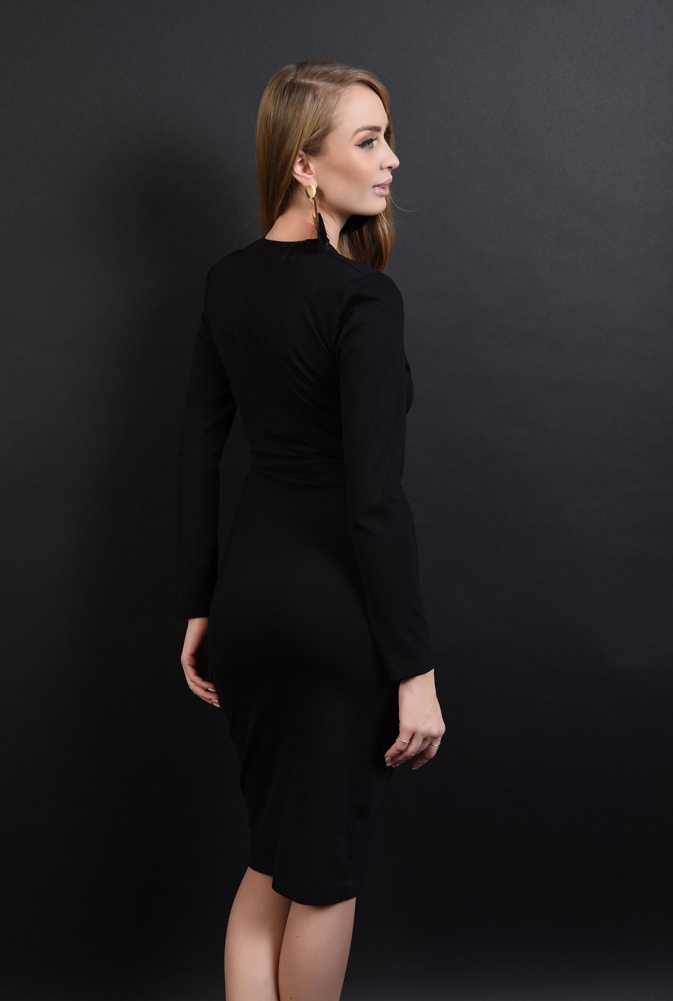 2 - 360 - rochie neagra, conica, cu anchior amplu