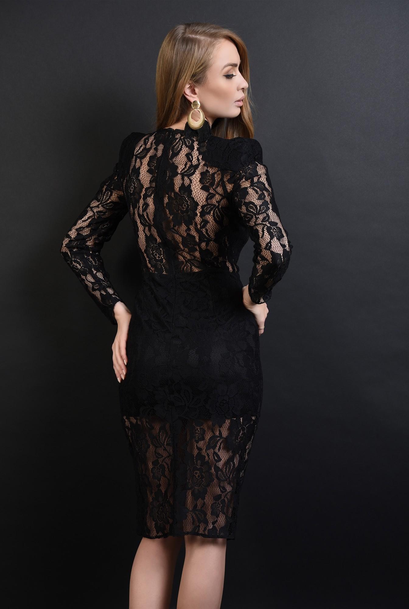 2 - 360 - rochie neagra, eleganta, din dantela
