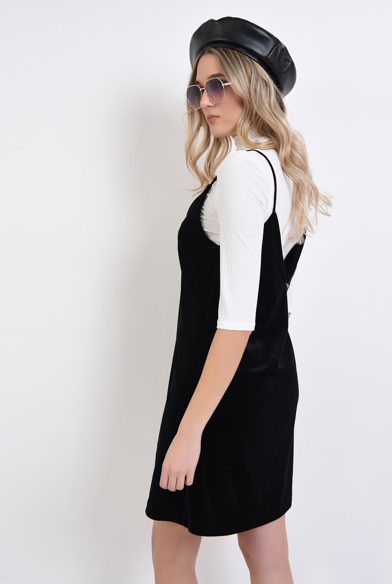 0 - rochie furou, neagra, din catifea, Poema