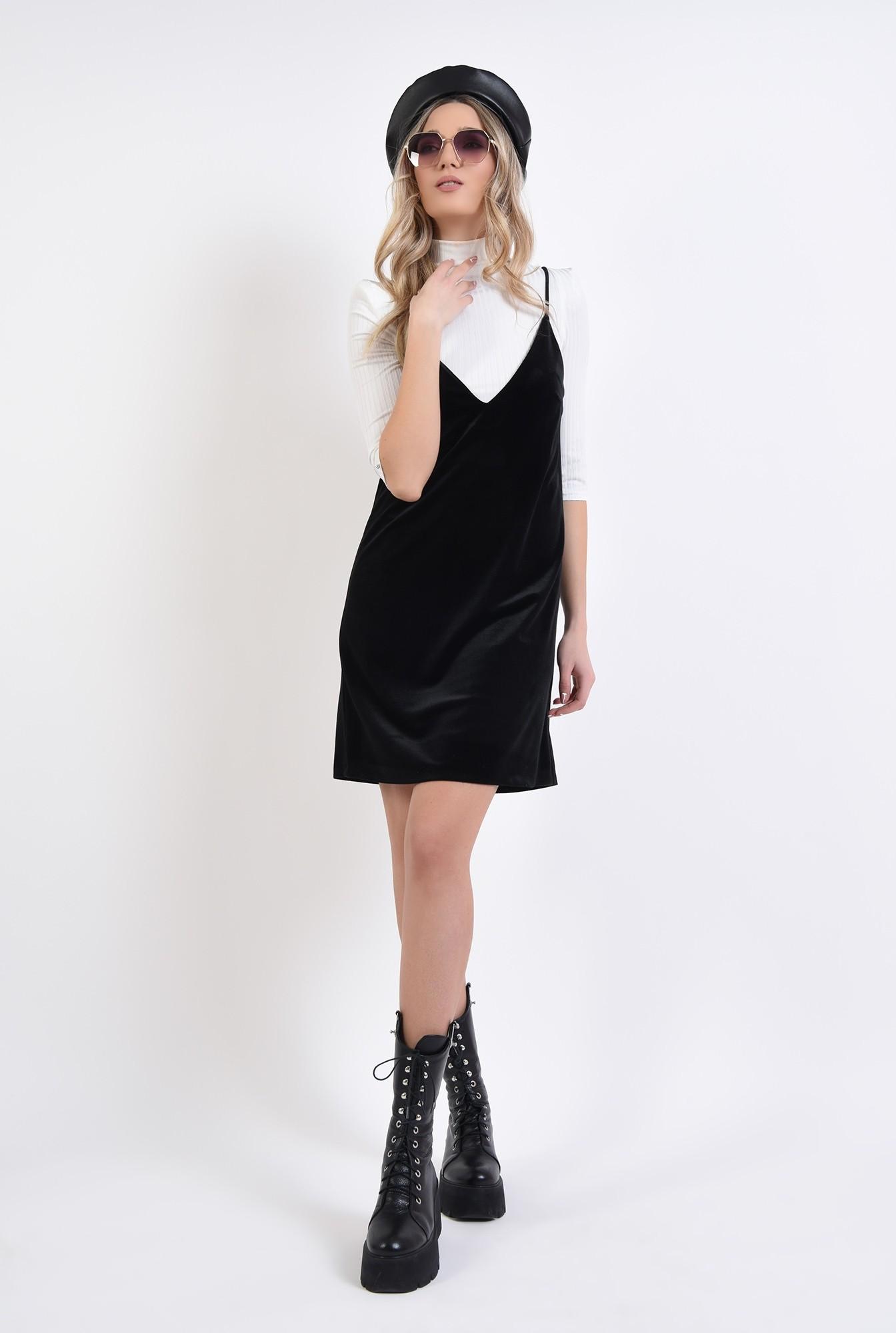 1 - rochie furou, neagra, din catifea, Poema