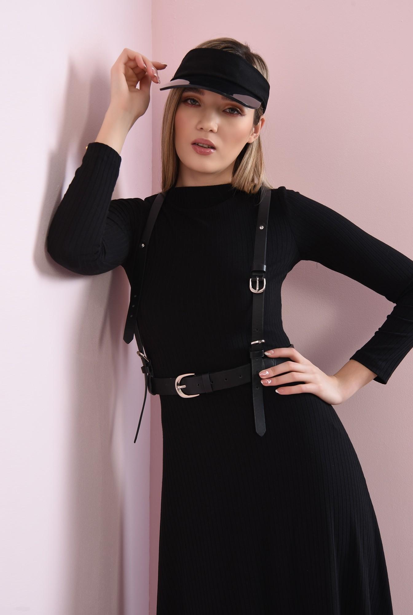 1 - rochie neagra, din jerse reiat, Poema