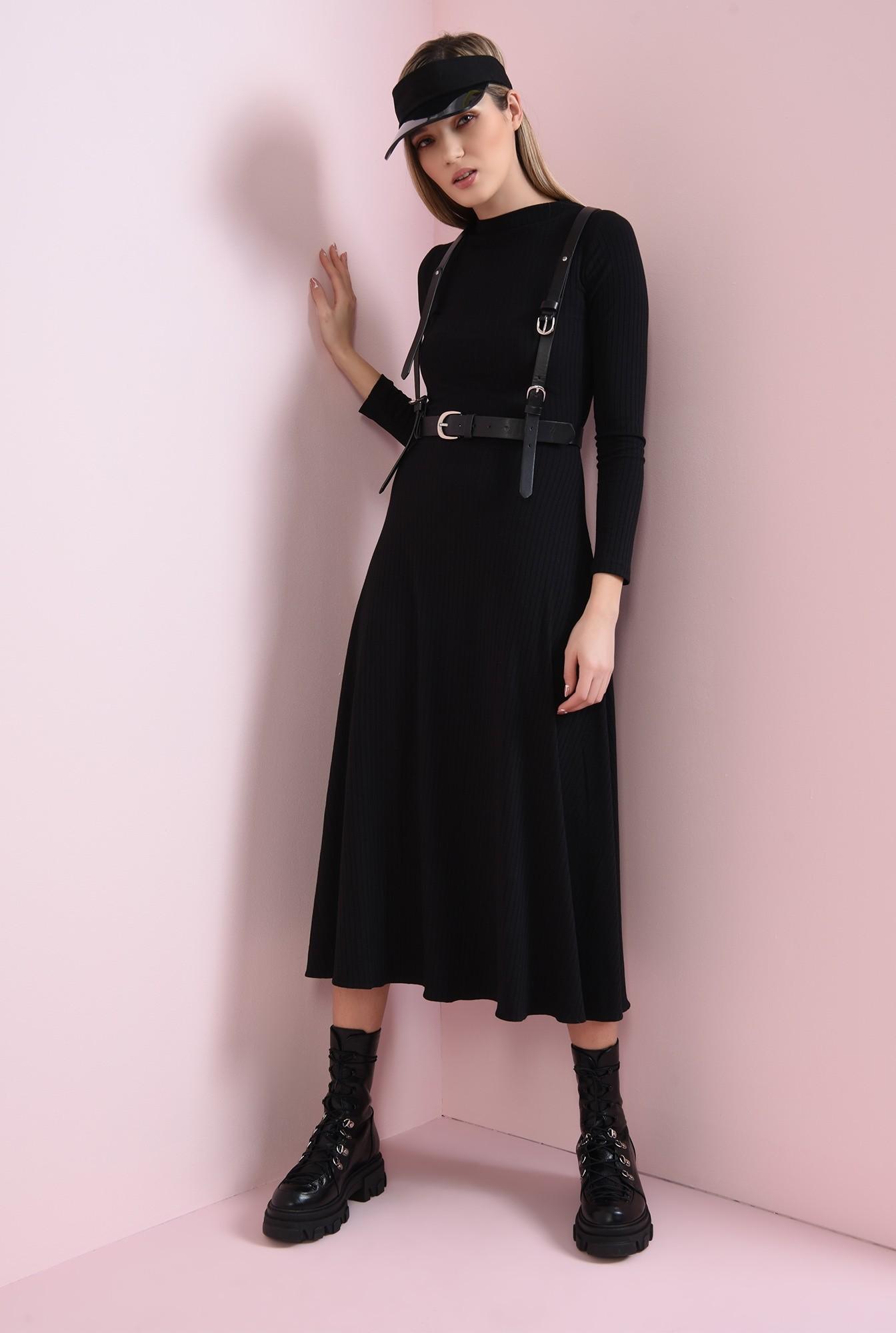 0 - rochie neagra, din jerse reiat, Poema