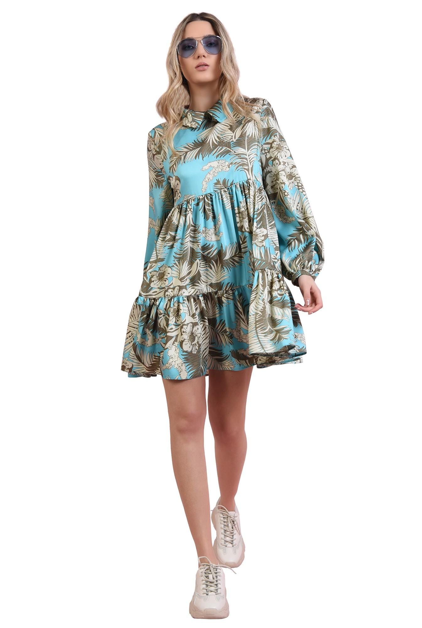 3 - rochie mini, larga, cu guler