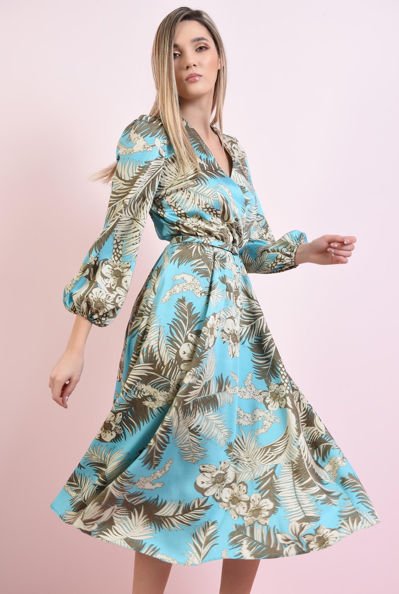 2 - rochie cu centura, cu imprimeu, Poema