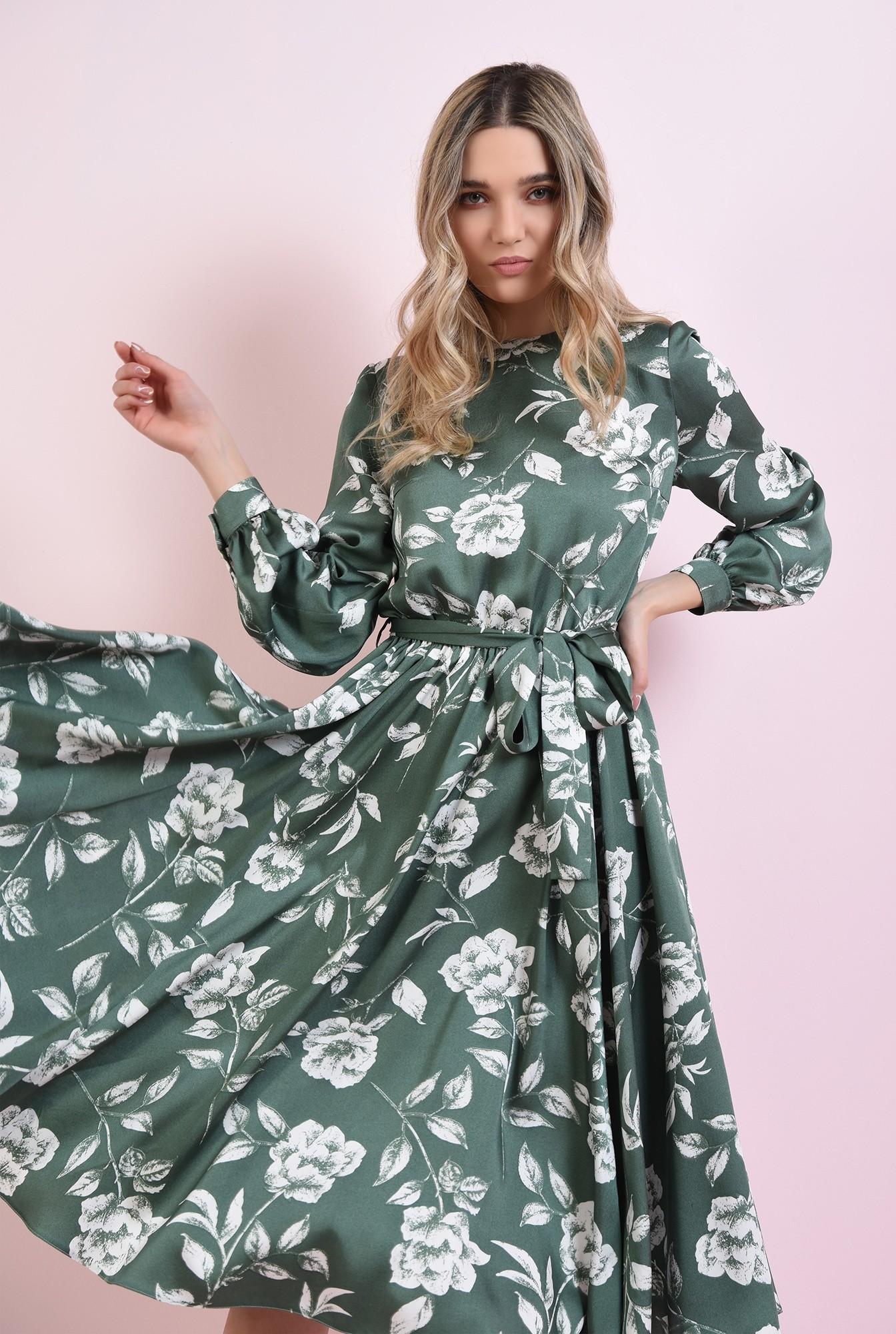 2 - rochie cu imprimeu, cu cordon, Poema