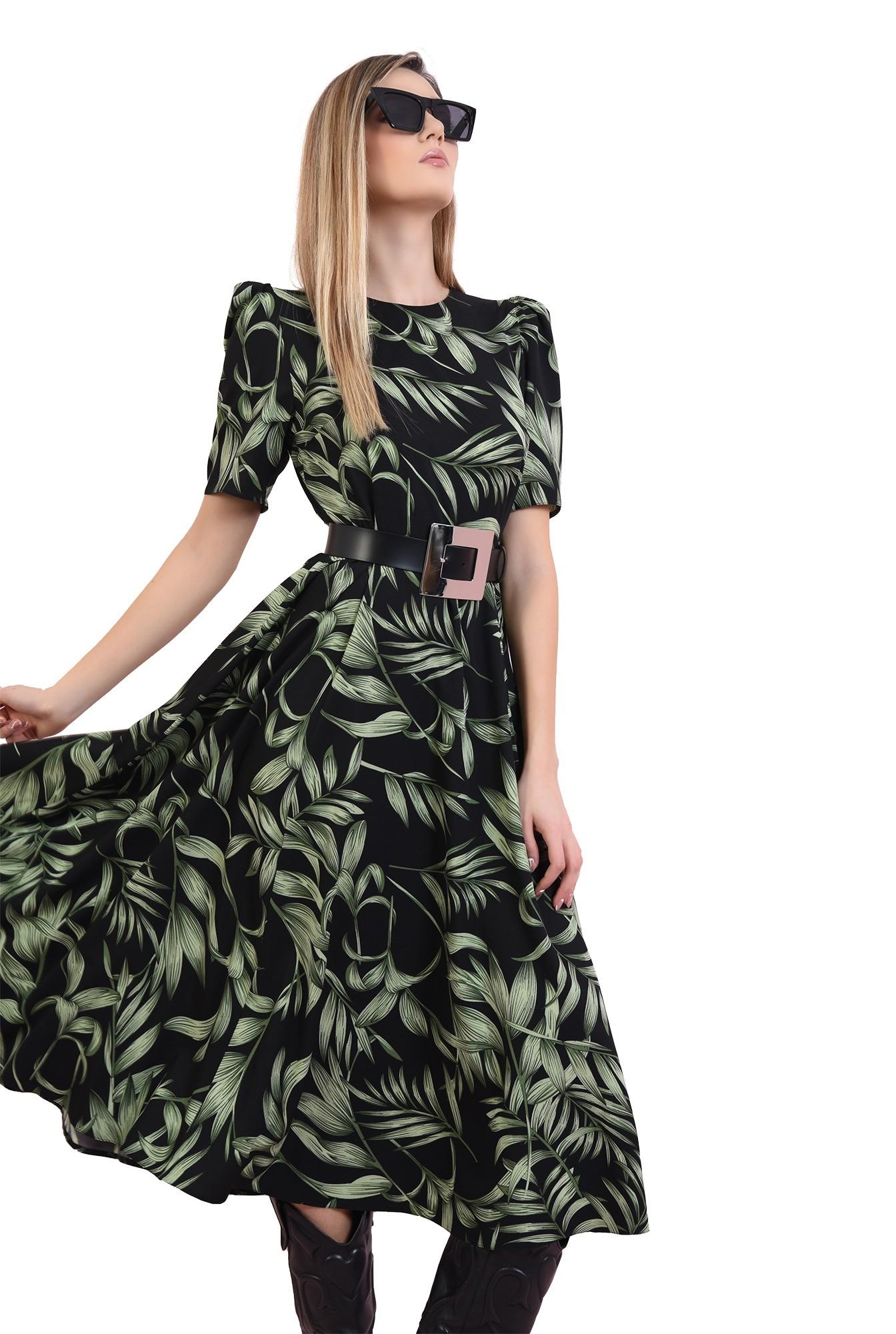 3 - rochie cu imprimeu floral, cu maneca scrta