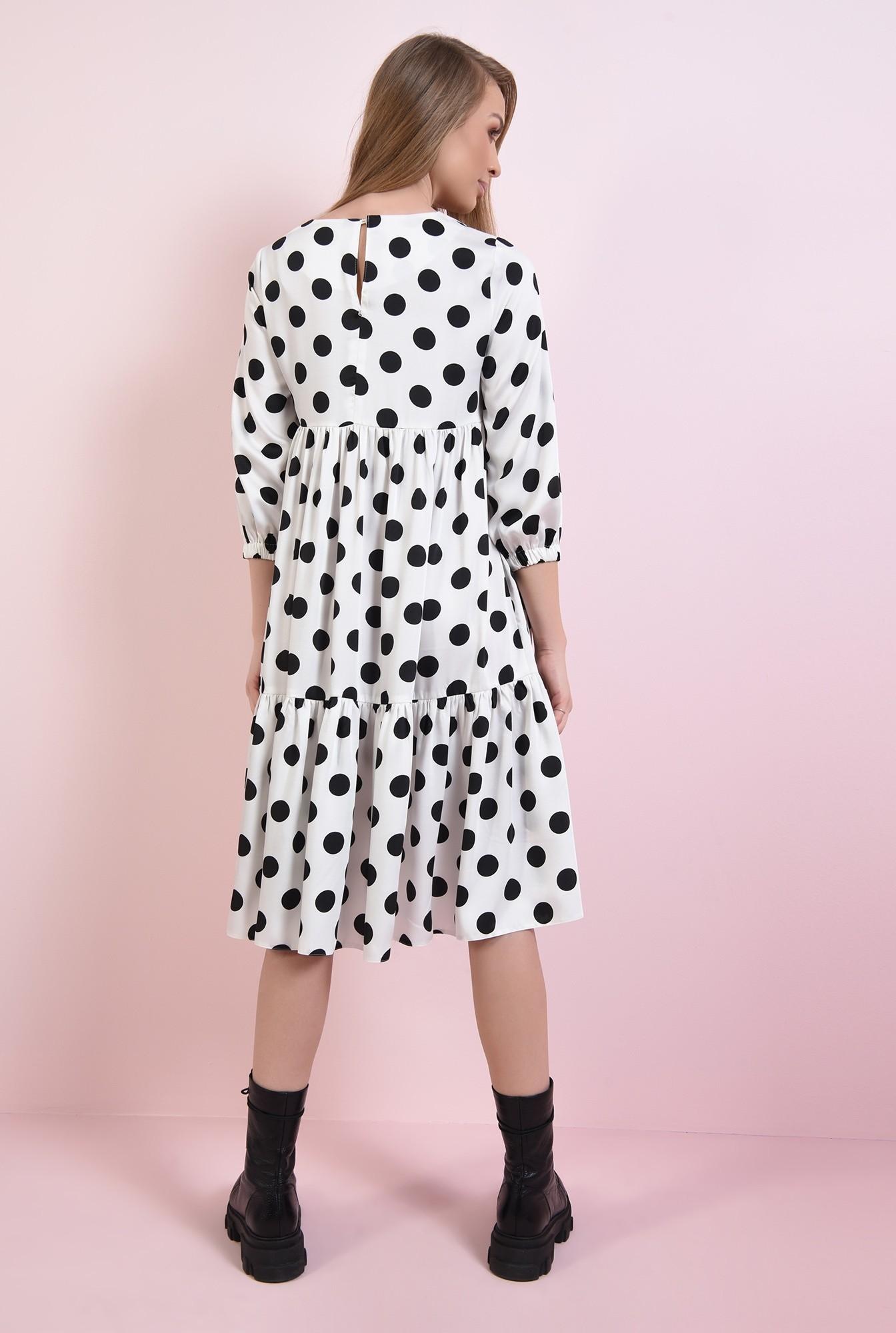 1 - rochie alba, cu buline negre