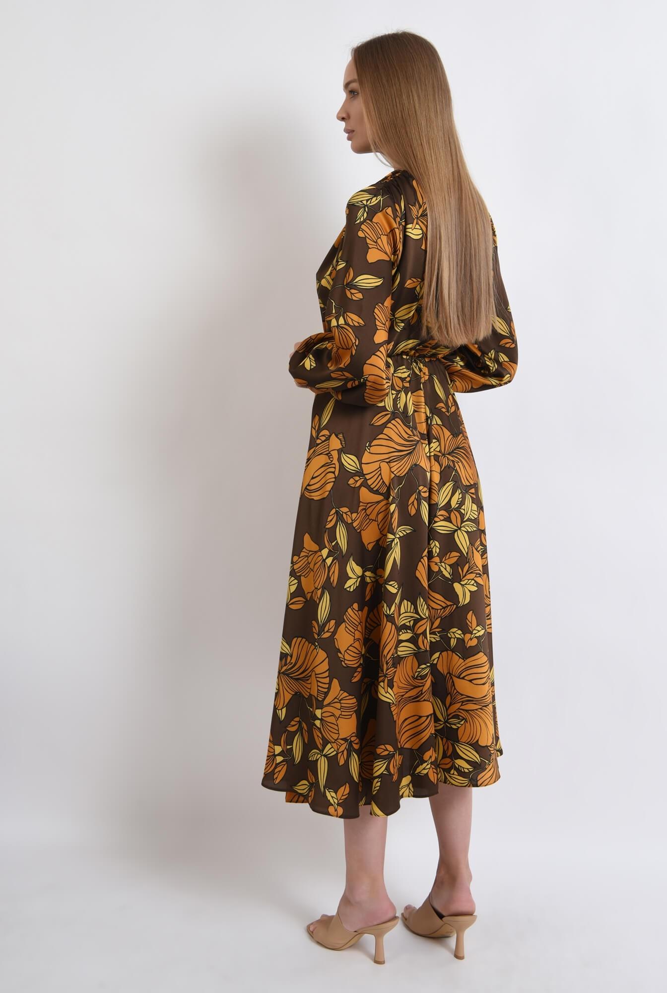 2 - rochie maro, cu motive florale