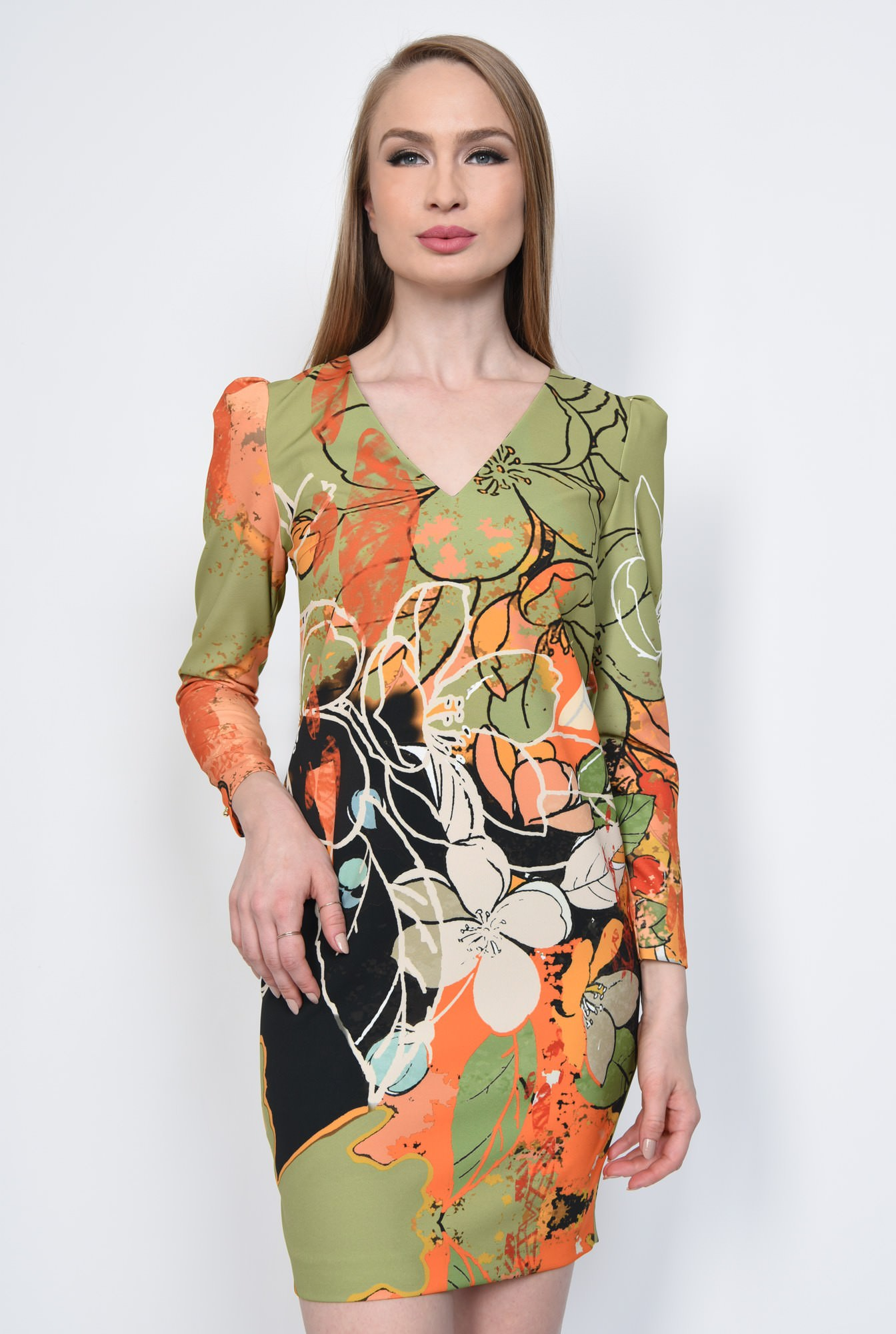 2 - ROCHIE CASUAL DREAPTA R 237-PRINT OLIVE