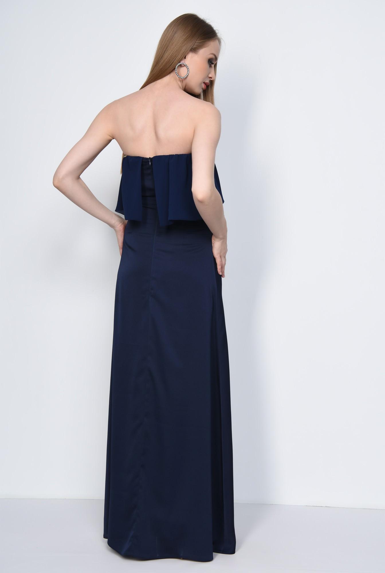 1 - Rochie eleganta lunga, bleumarin