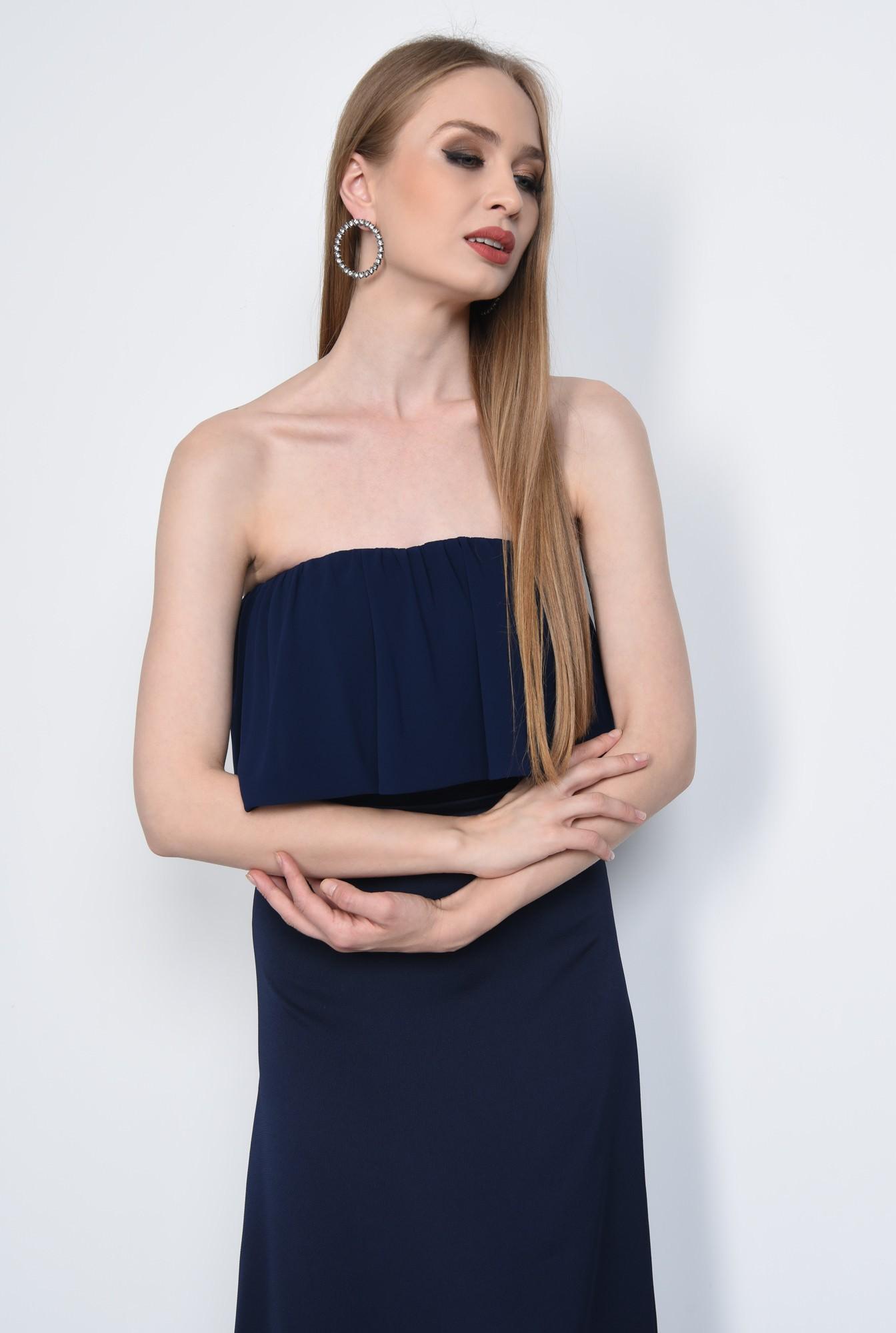 2 - Rochie eleganta lunga, bleumarin