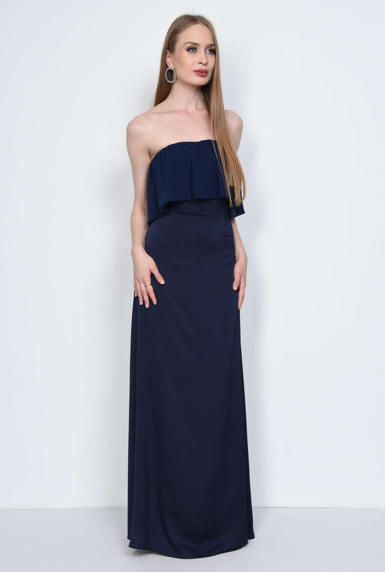 3 - Rochie eleganta lunga, bleumarin