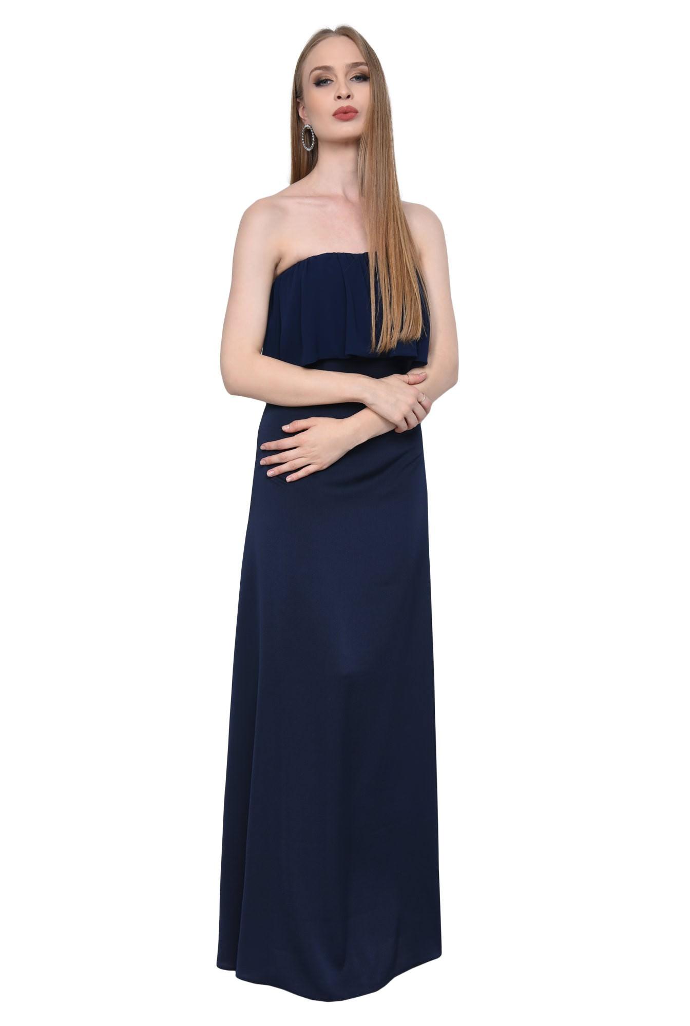 0 - Rochie eleganta lunga, bleumarin