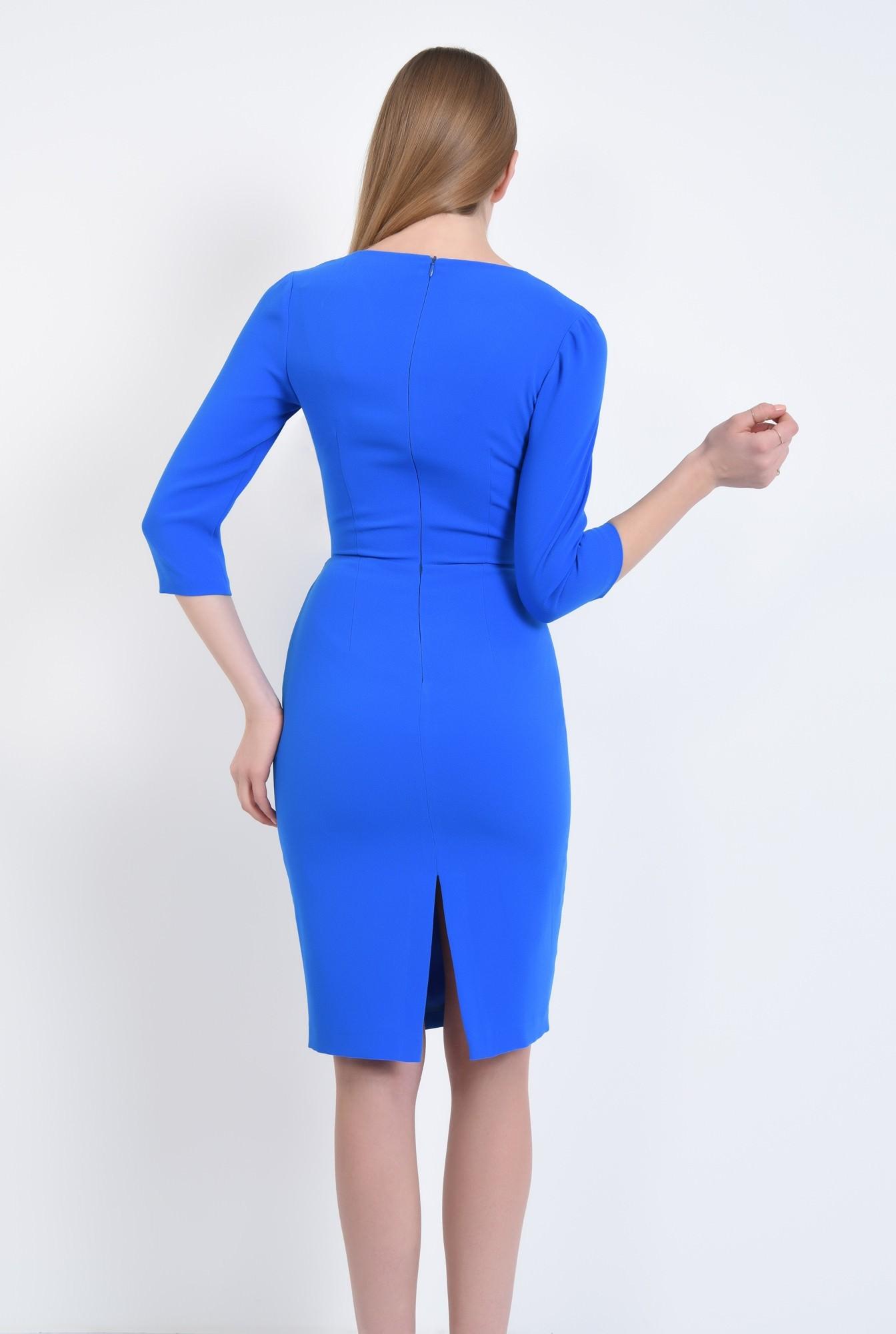 1 - Rochie casual midi, albastra