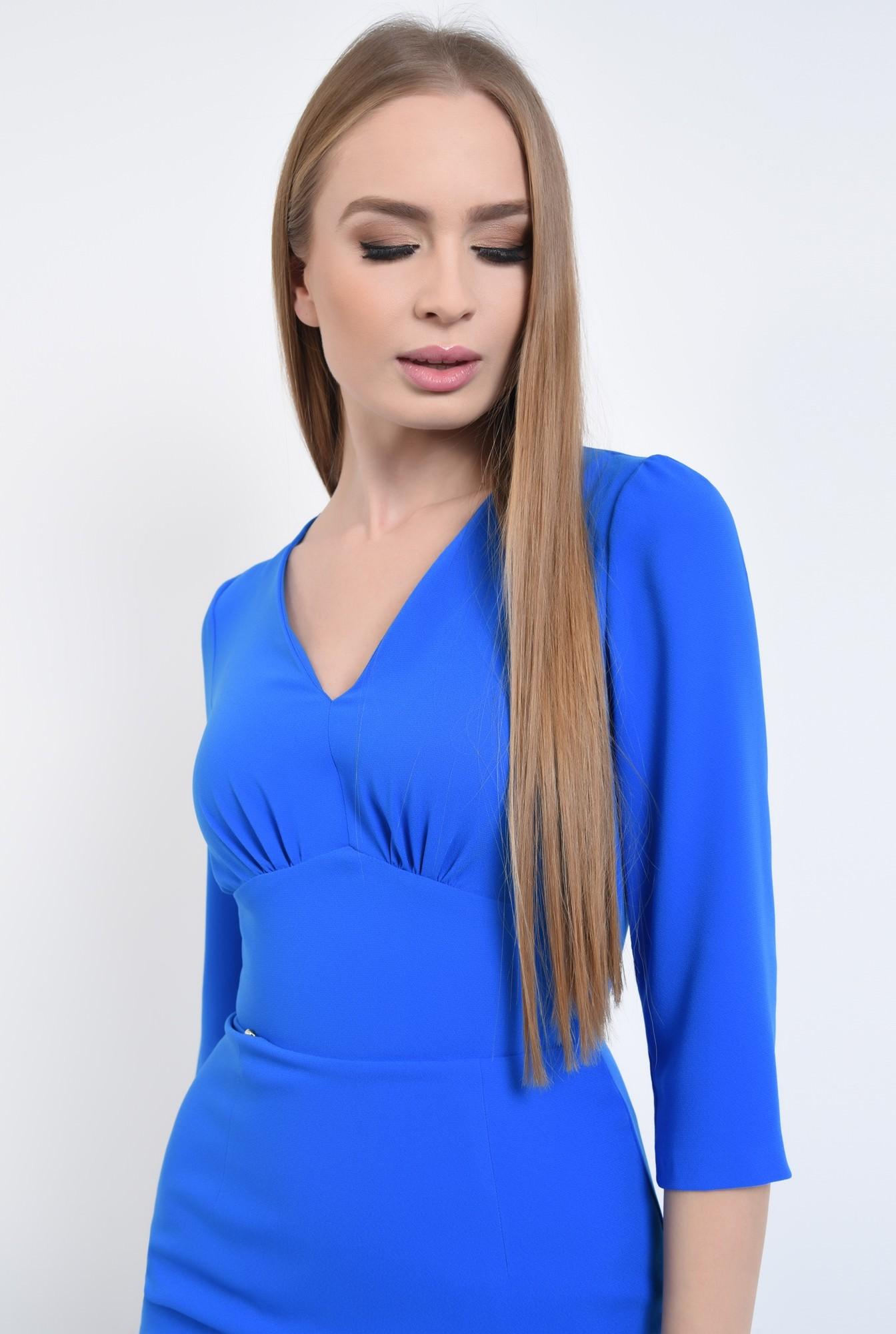 2 - Rochie casual midi, albastra