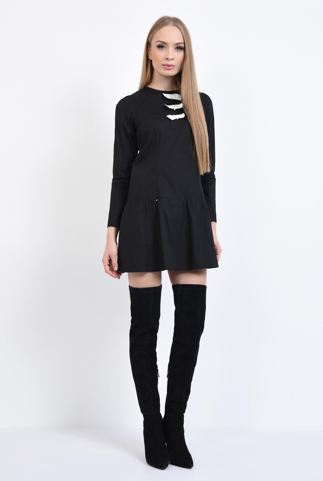 3 - Rochie casual neagra, mini