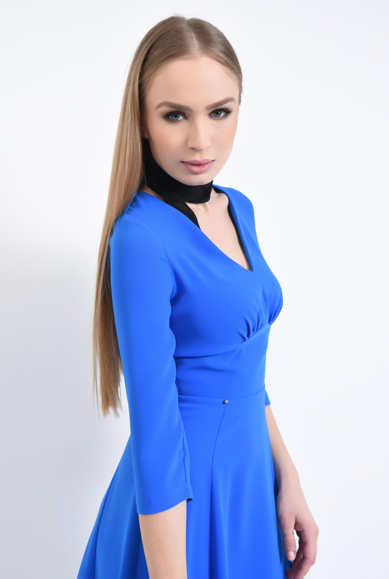 2 - Rochie de zi, albastru