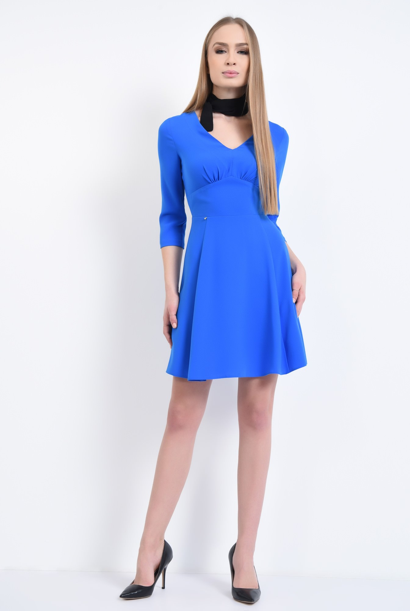 3 - Rochie de zi, albastru