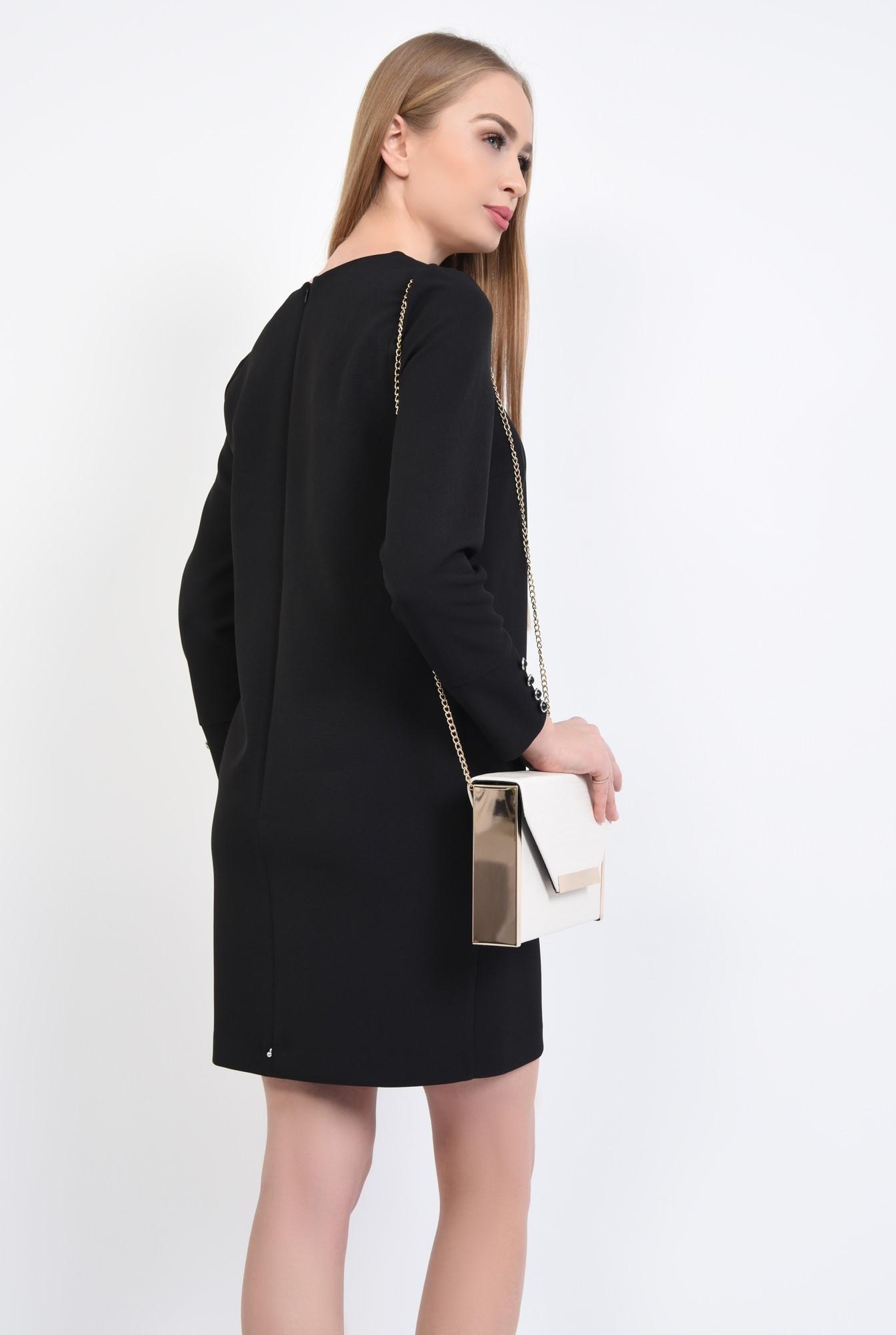 1 - Rochie de zi mini, neagra
