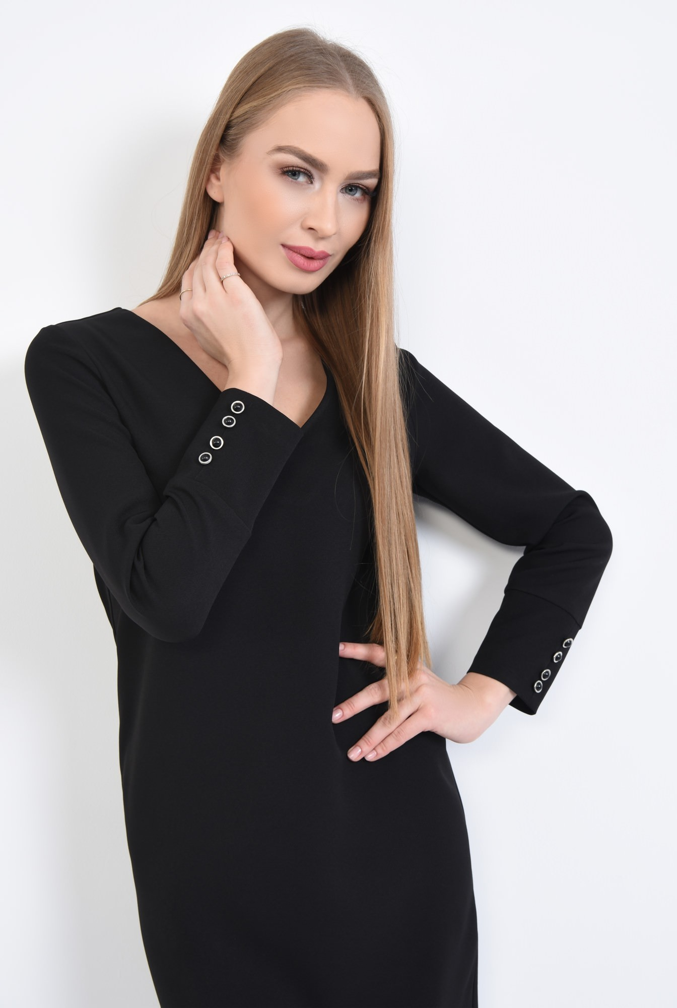 2 - Rochie de zi mini, neagra