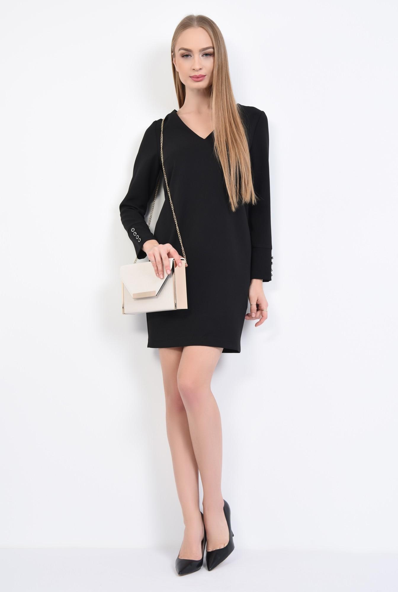 3 - Rochie de zi mini, neagra