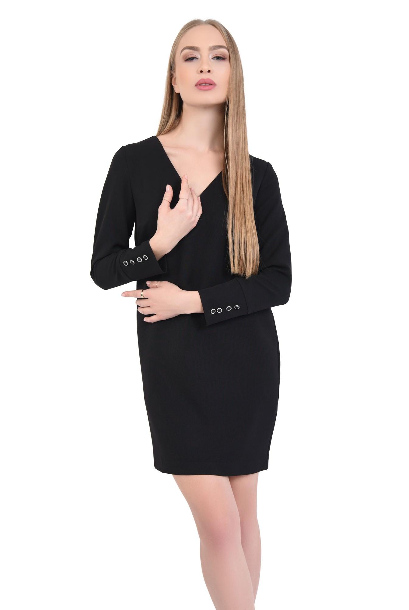 0 - Rochie de zi mini, neagra