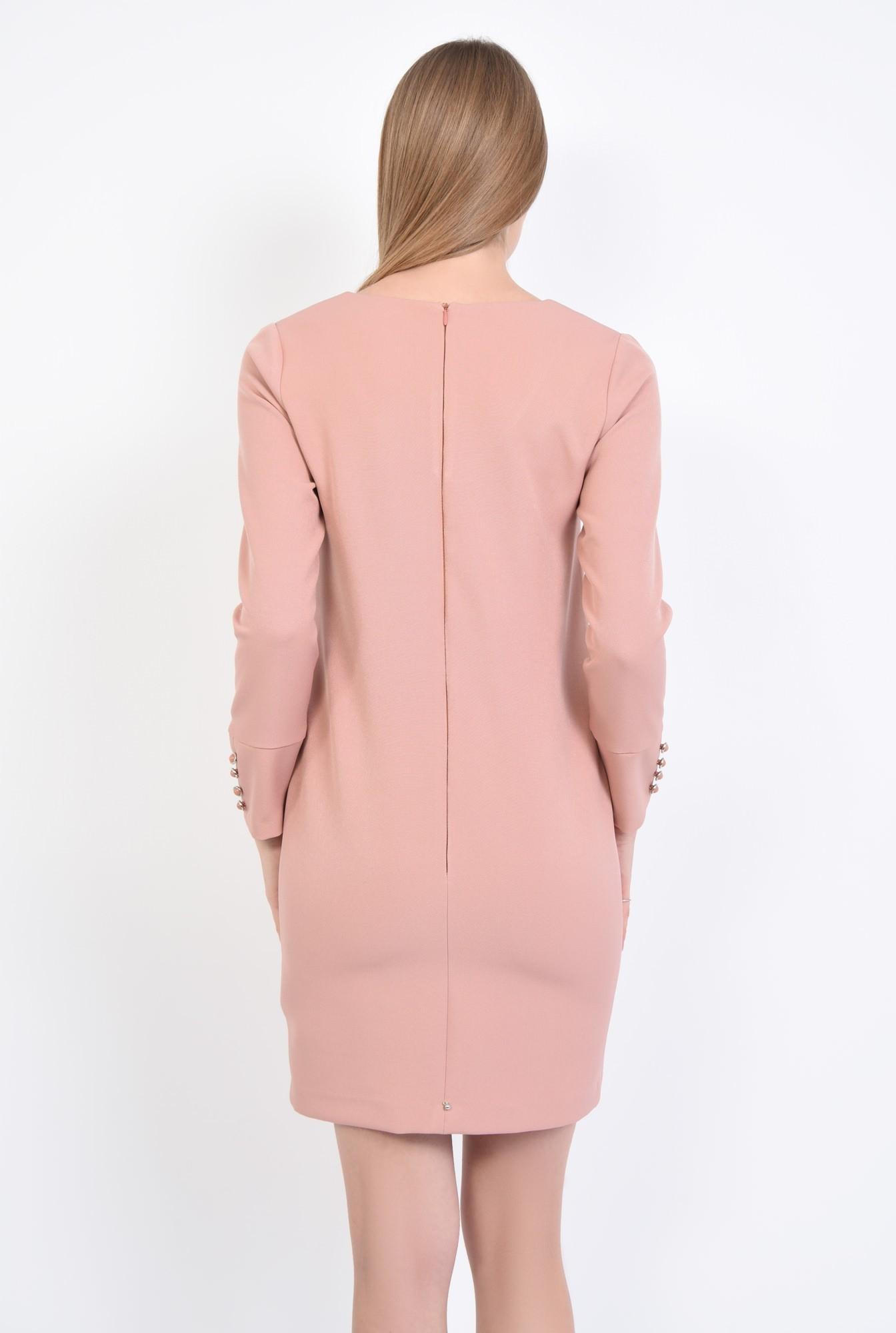 1 - Rochie casual mini, roz