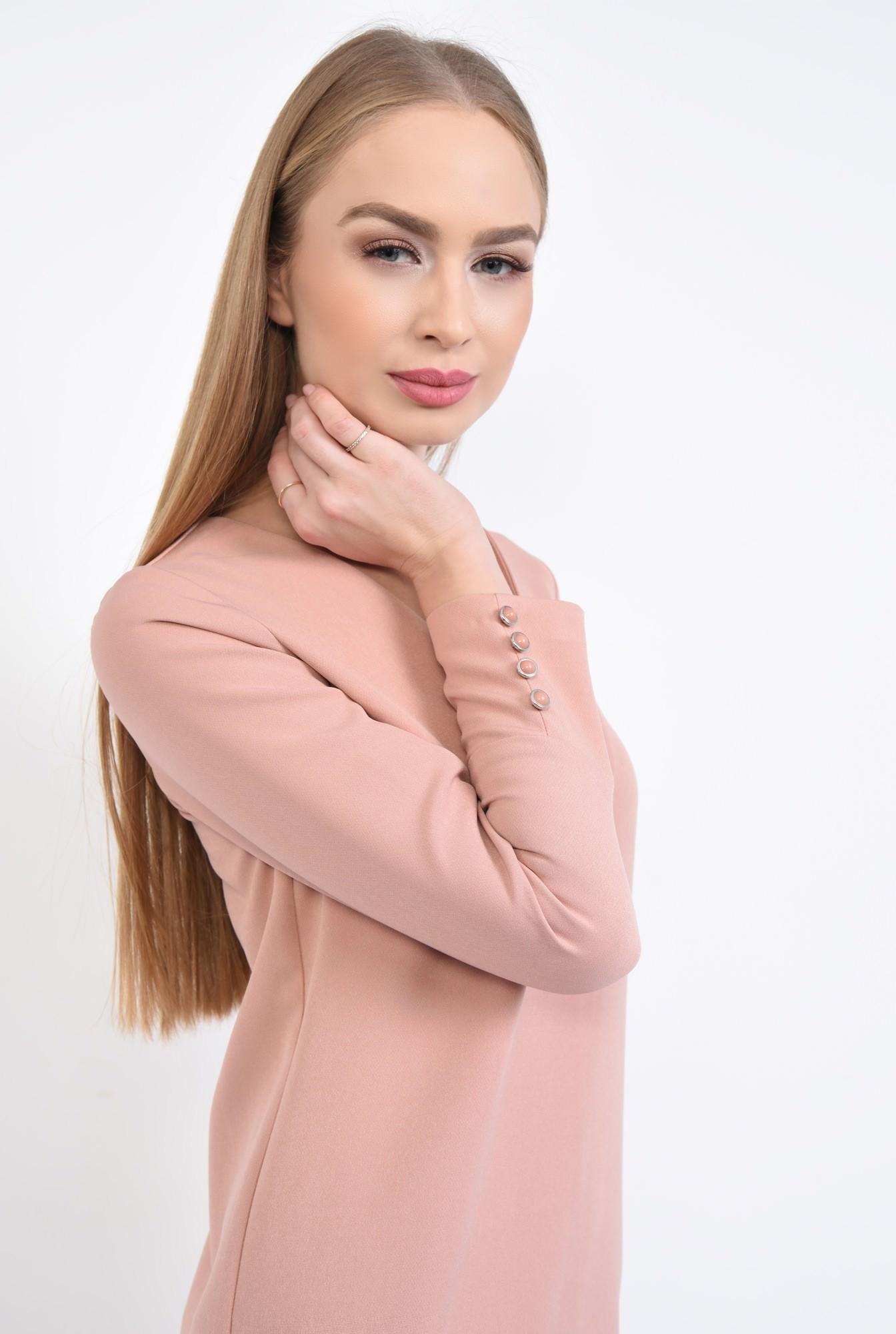 2 - Rochie casual mini, roz