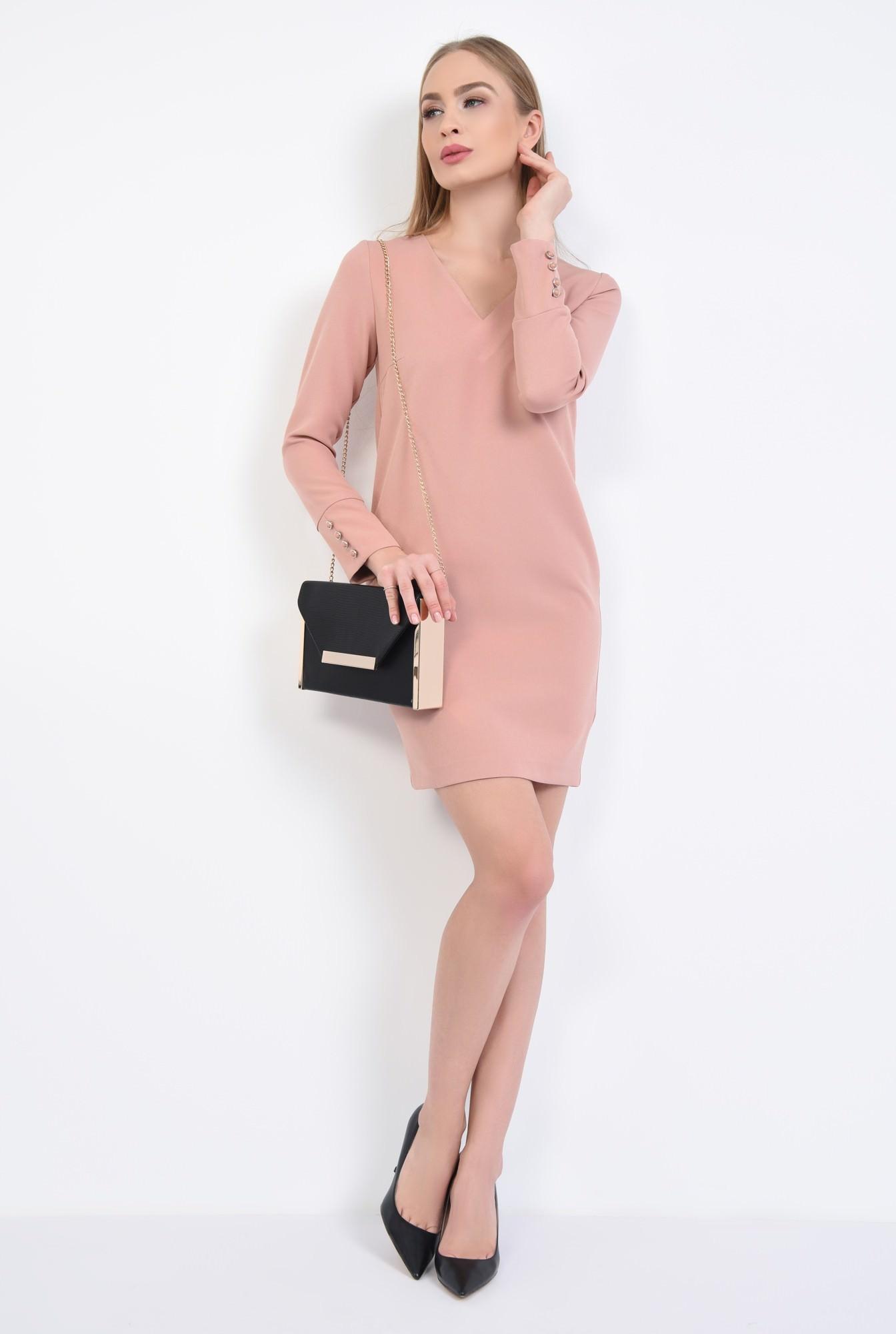 3 - Rochie casual mini, roz