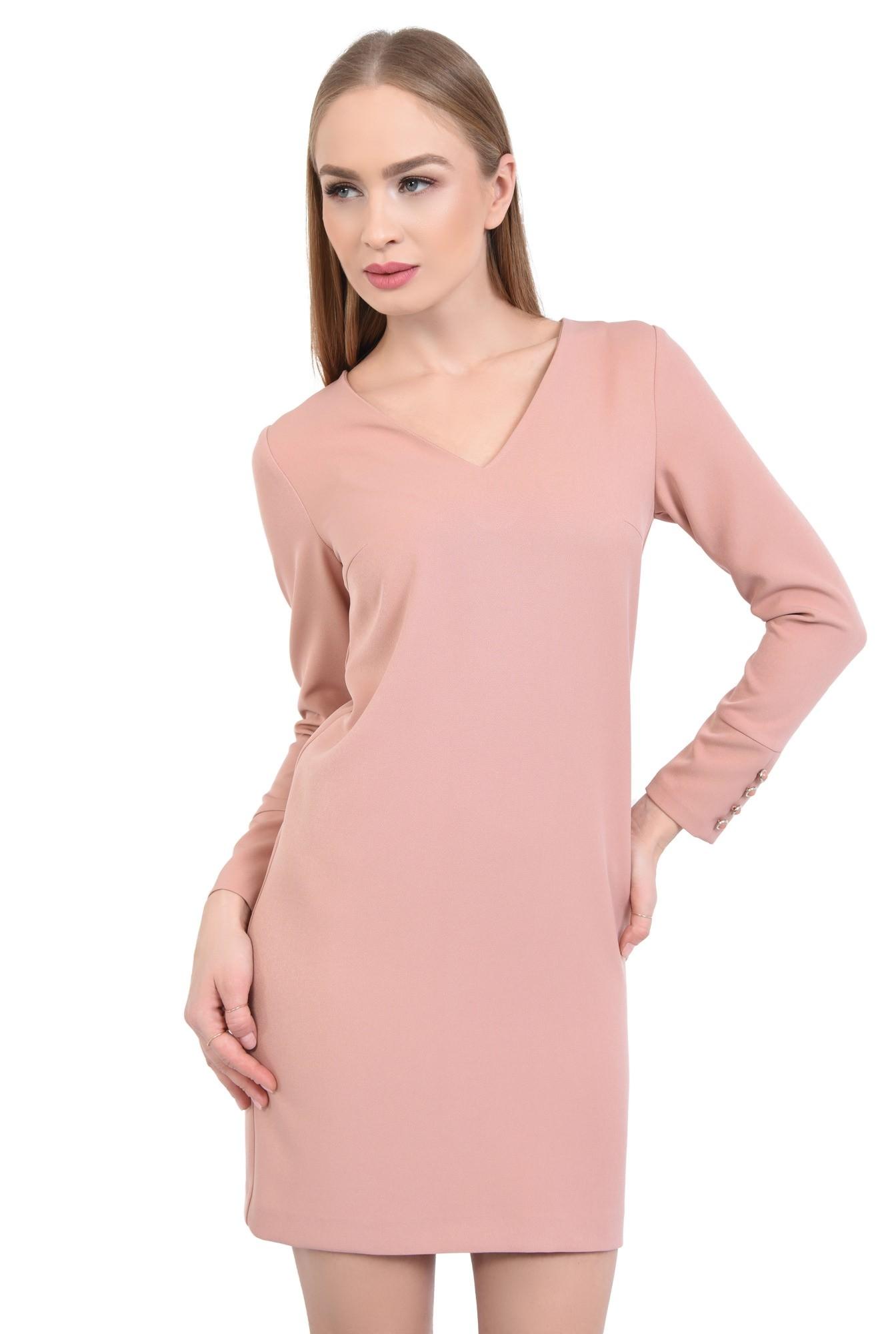0 - Rochie casual mini, roz
