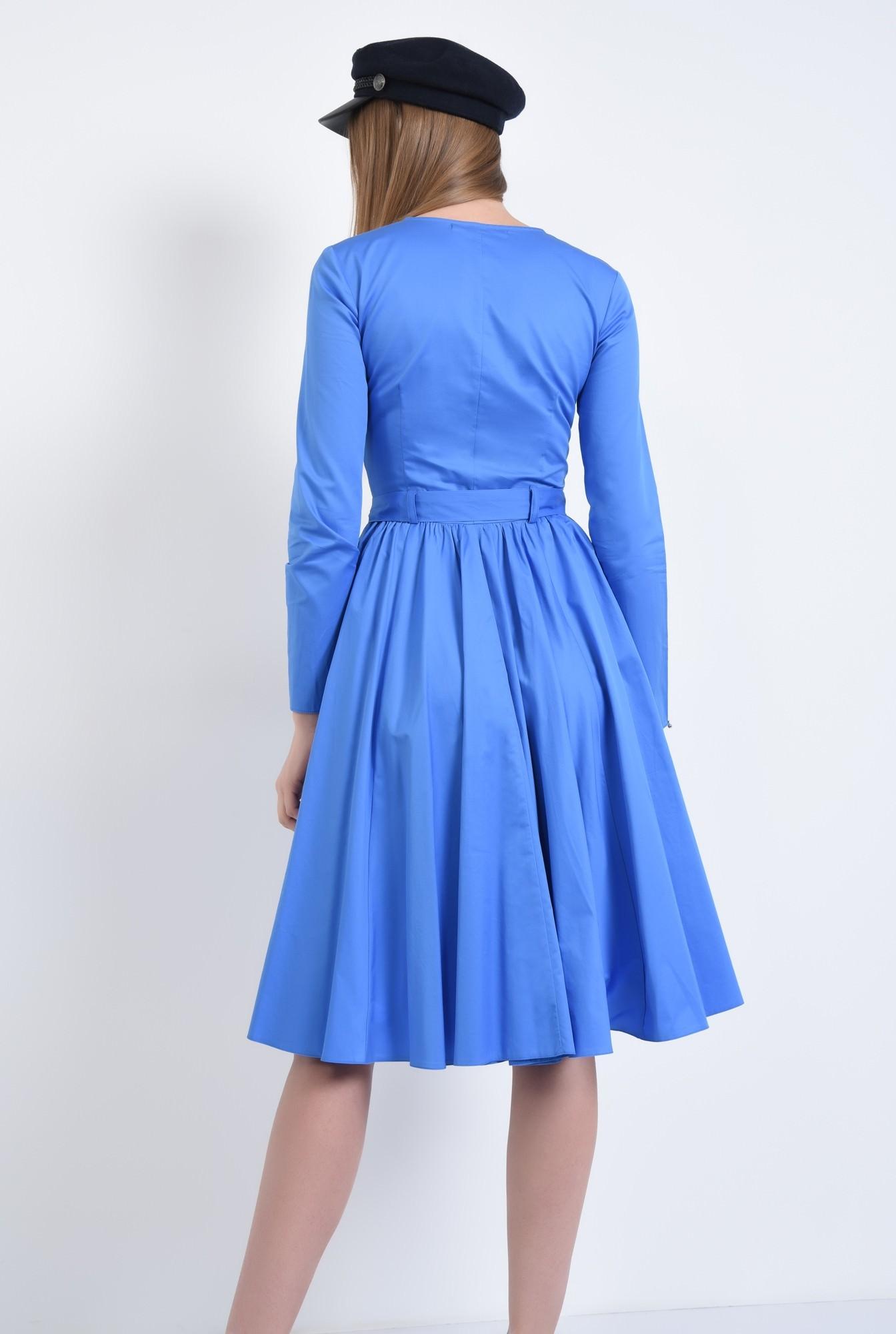 1 - Rochie casual albastra, midi