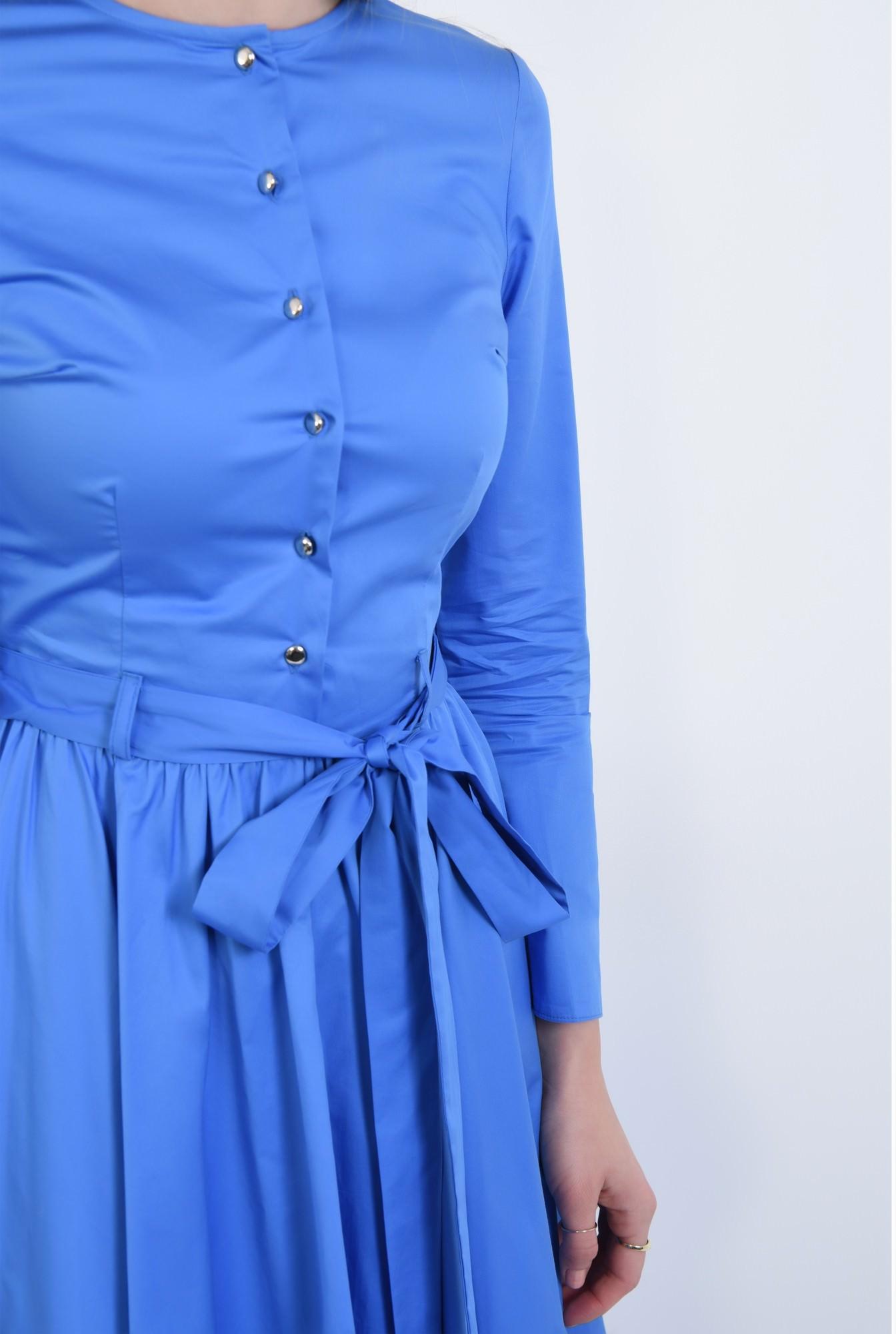 2 - Rochie casual albastra, midi