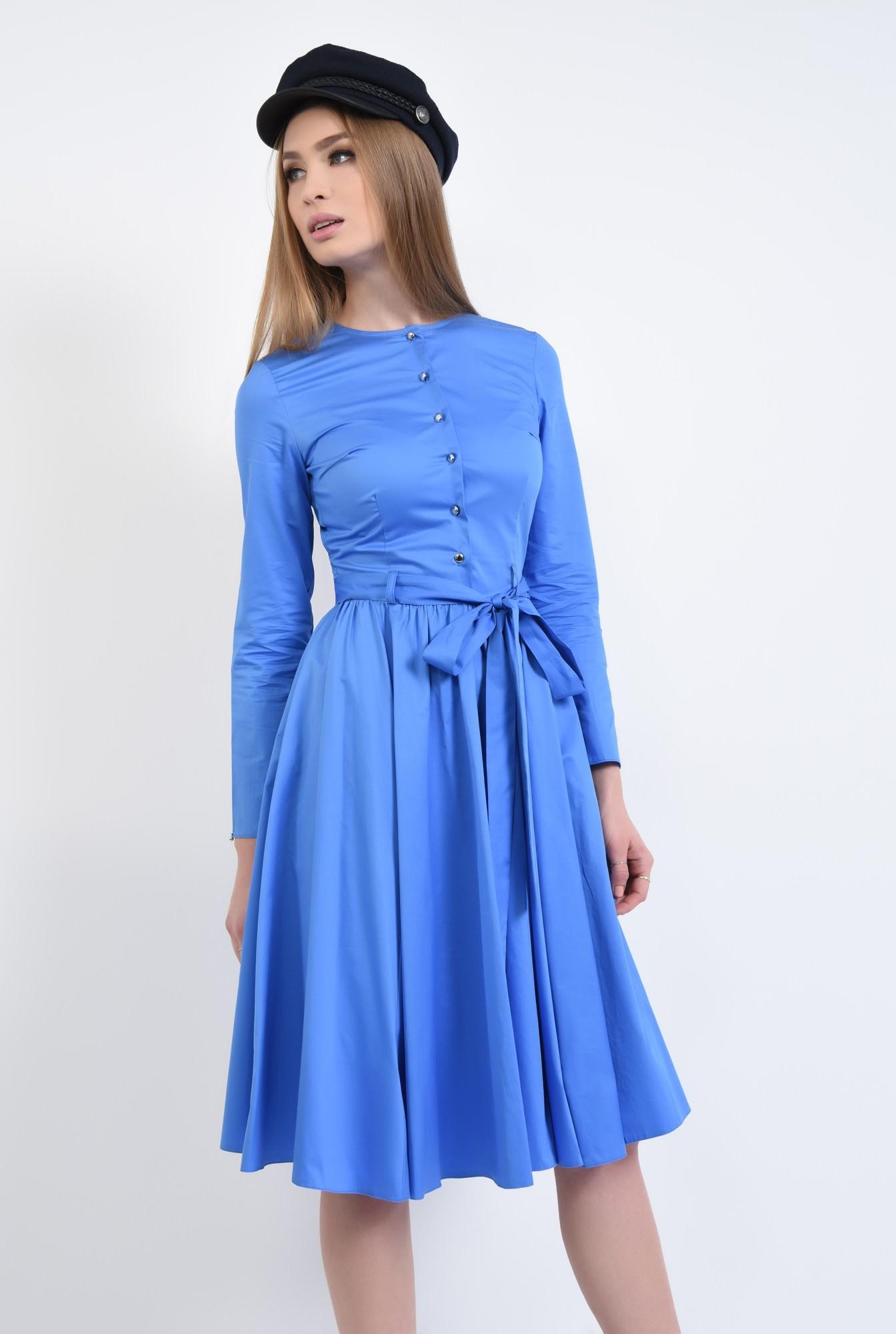 3 - Rochie casual albastra, midi