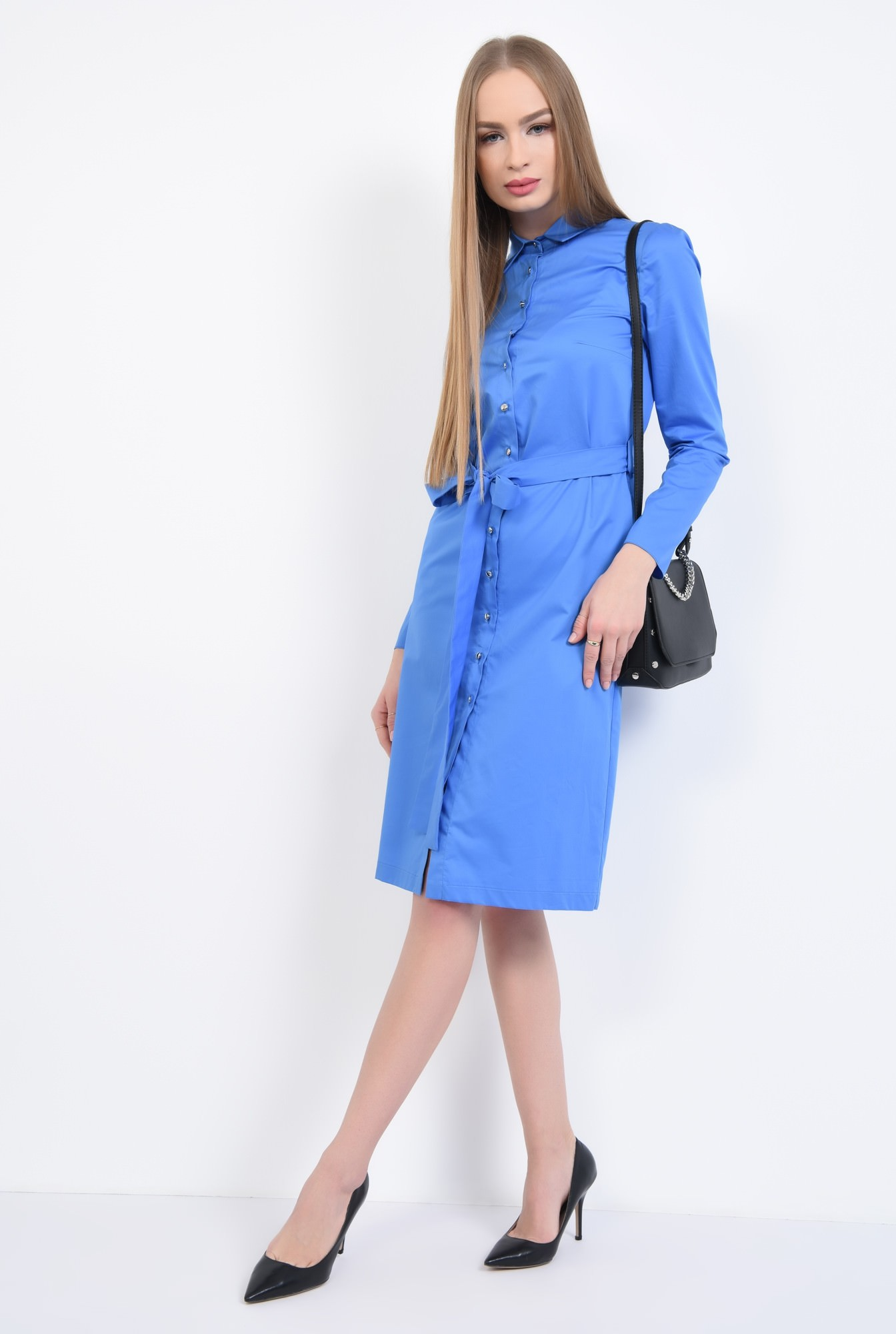 3 - Rochie casual, albastra