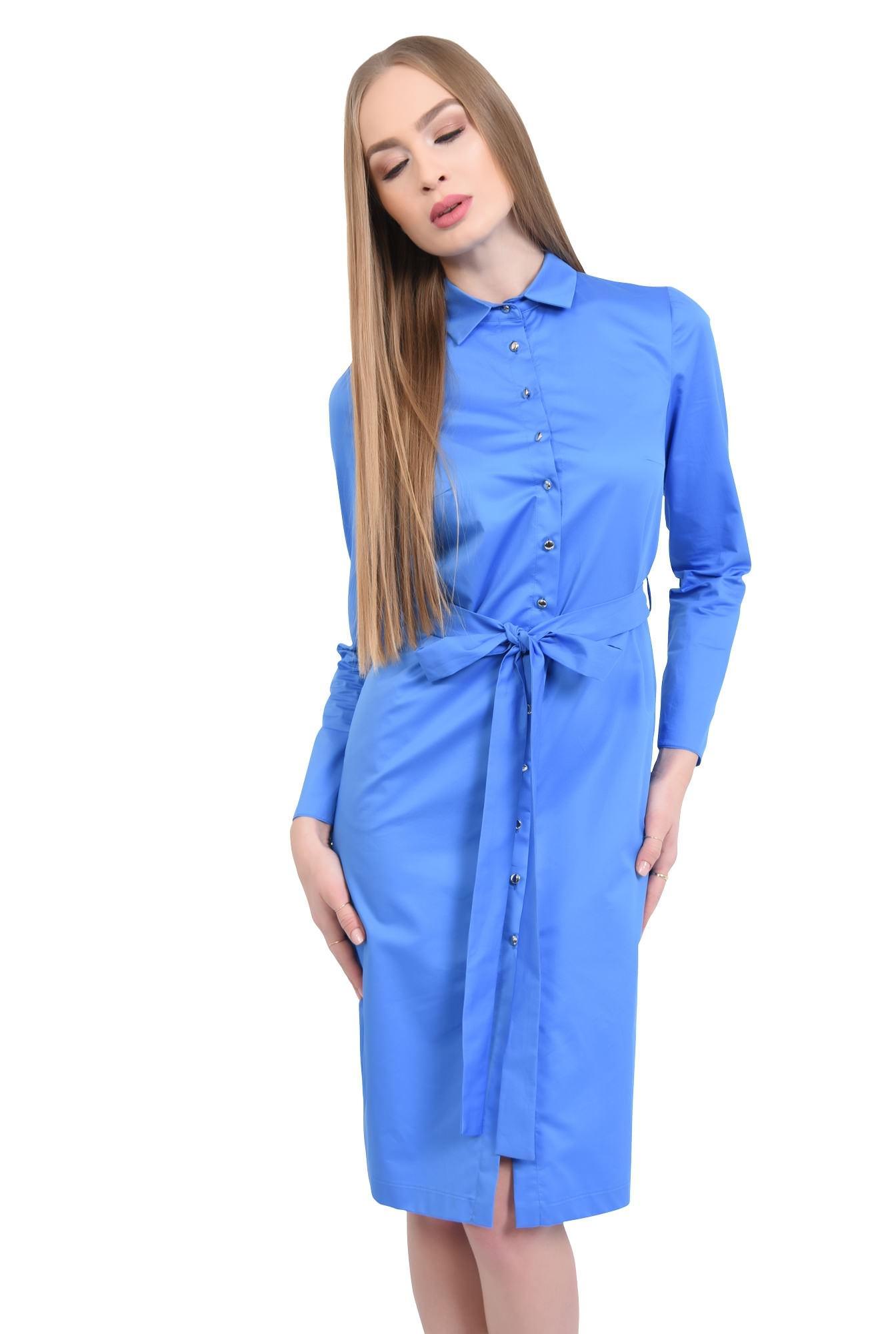 0 - Rochie casual, albastra