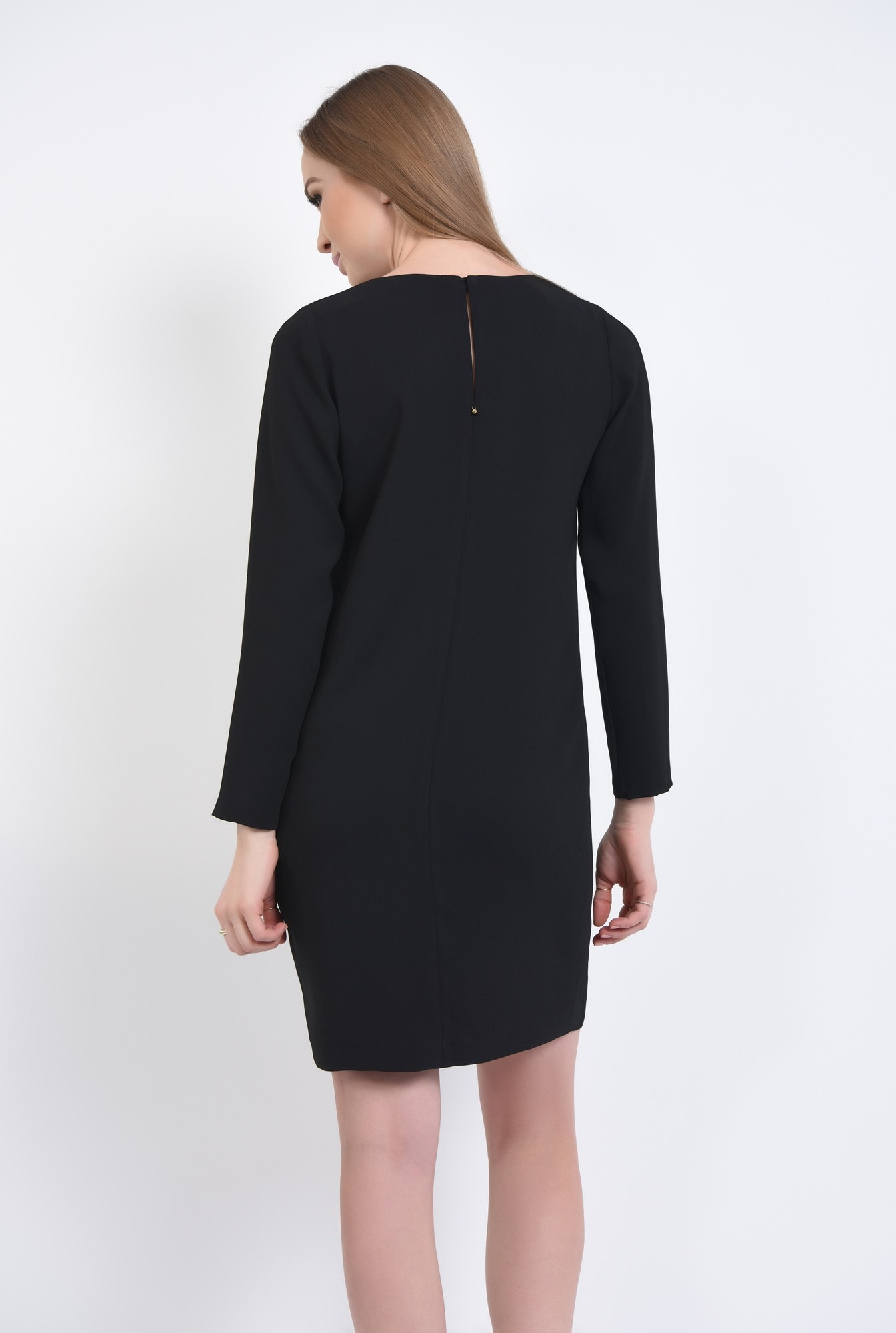 1 - Rochie casual neagra, mini