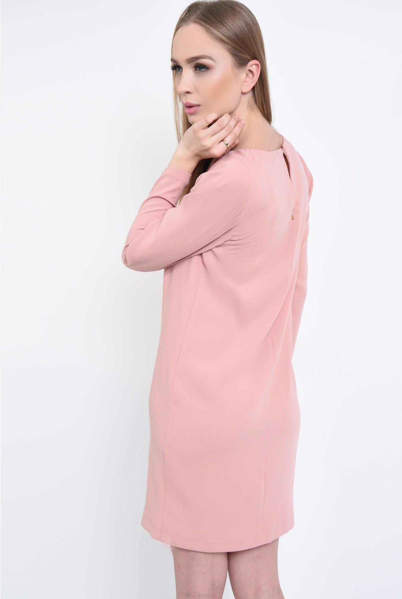 1 - Rochie casual scurta, roz