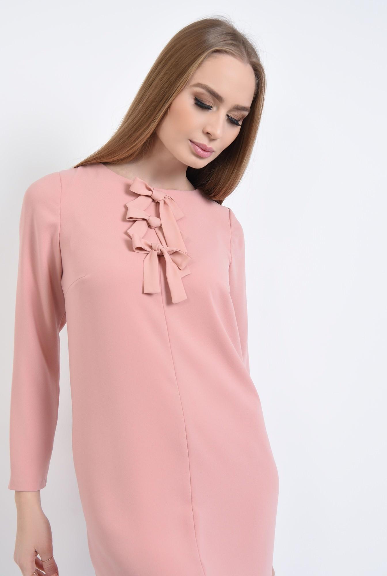 2 - Rochie casual scurta, roz