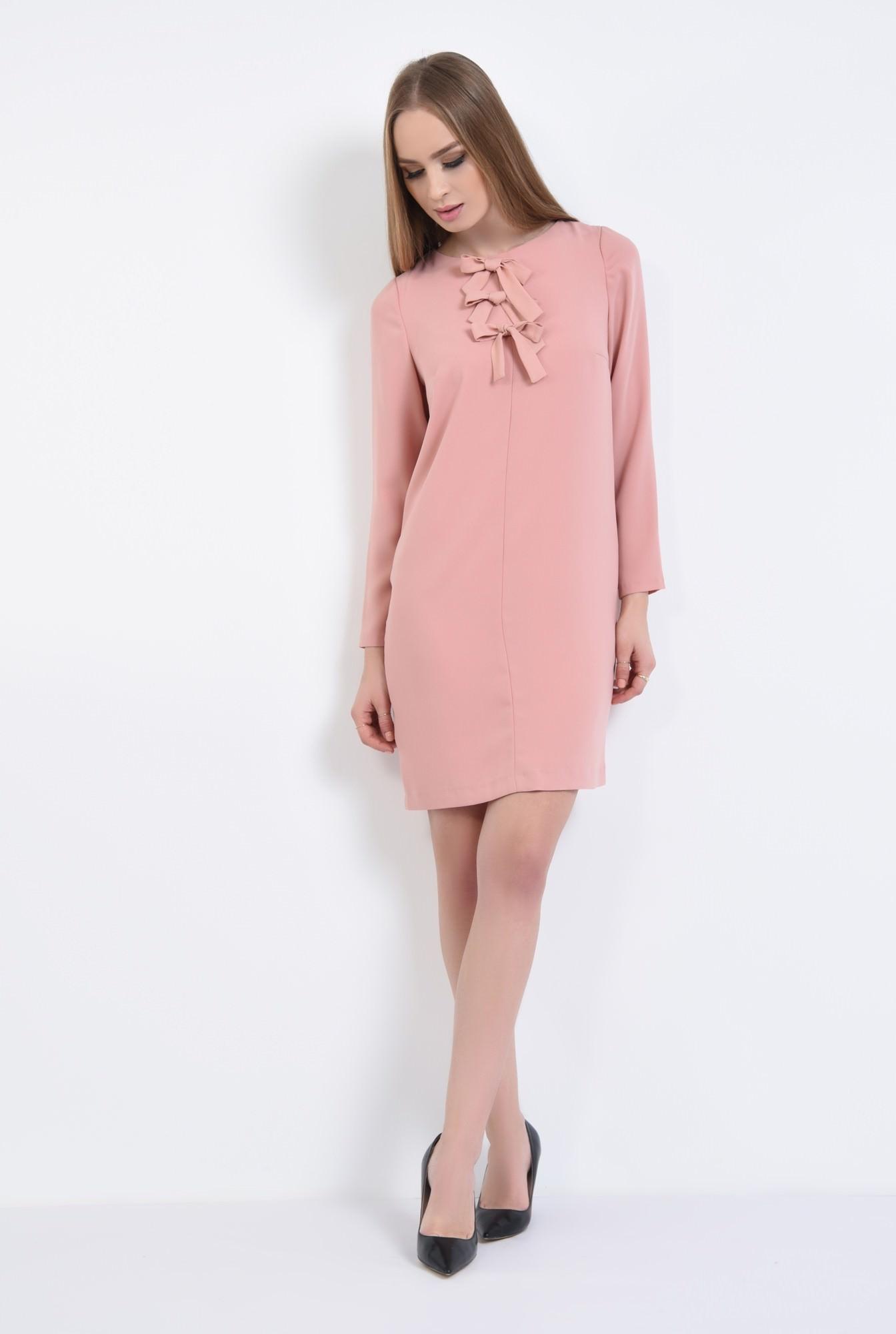 3 - Rochie casual scurta, roz