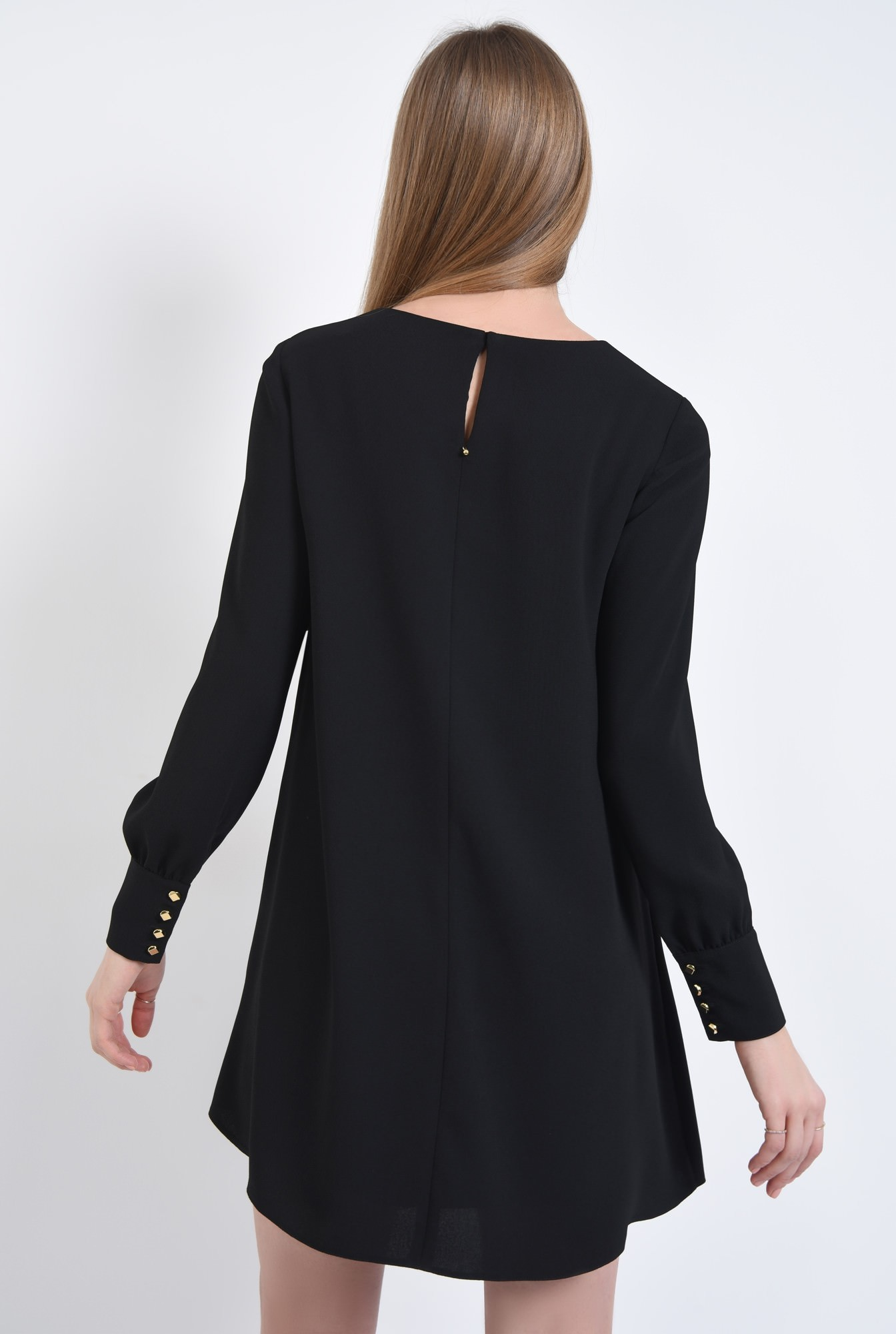 1 - Rochie casual neagra