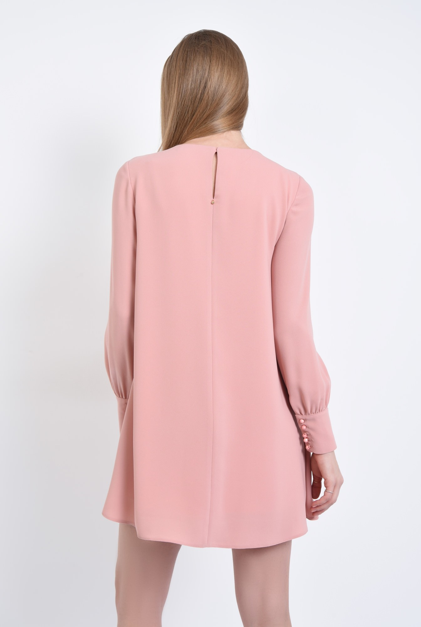 1 - Rochie de zi scurta, roz