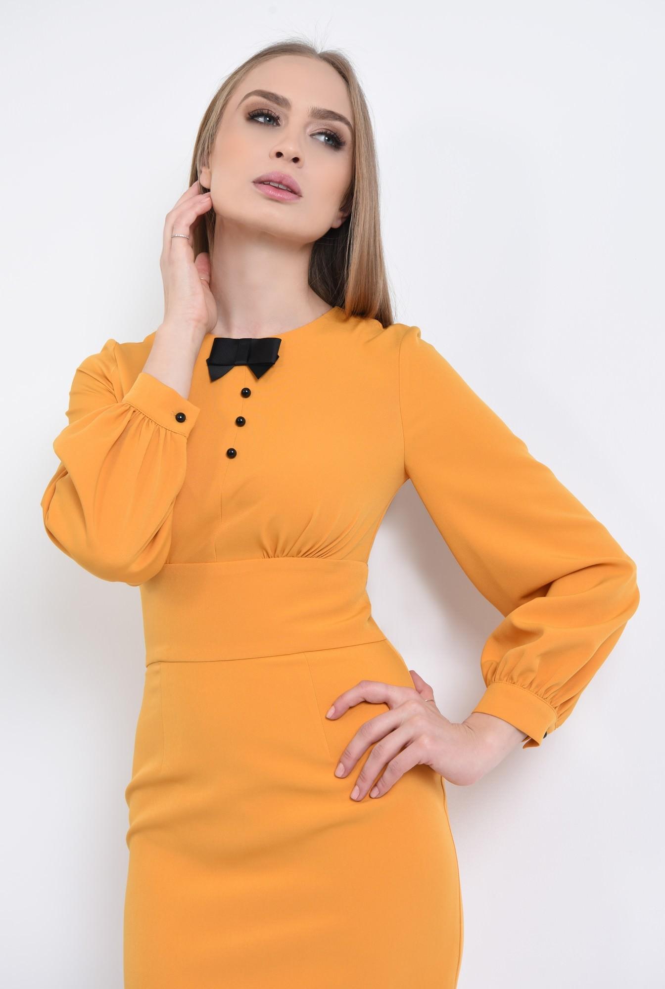 2 - 360 - rochie conica, maneci bufante, mansete, rochii online, funda, nasturi, contrast