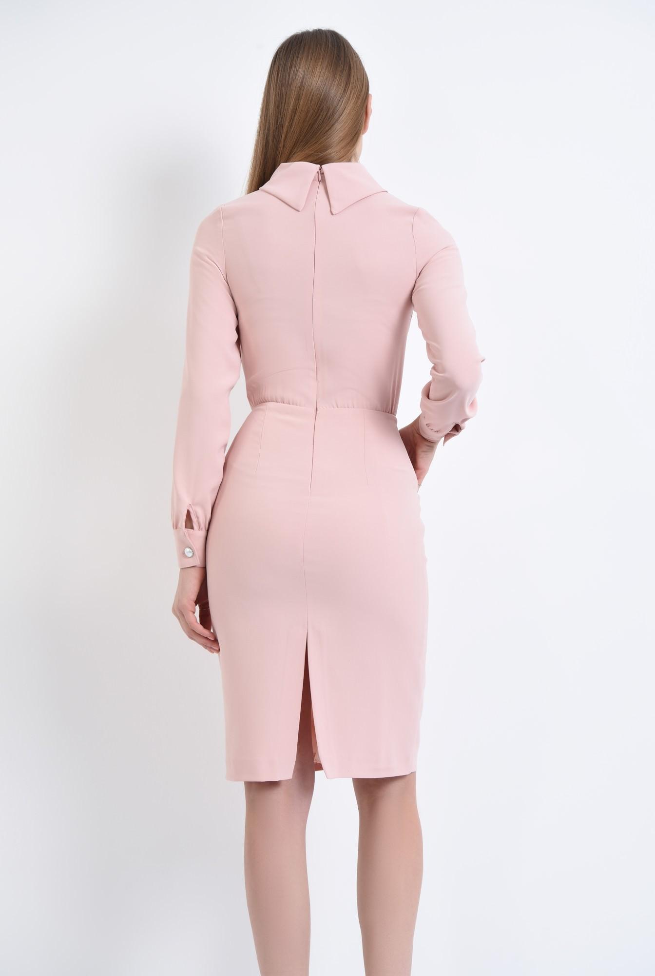 1 - Rochie casual, roz