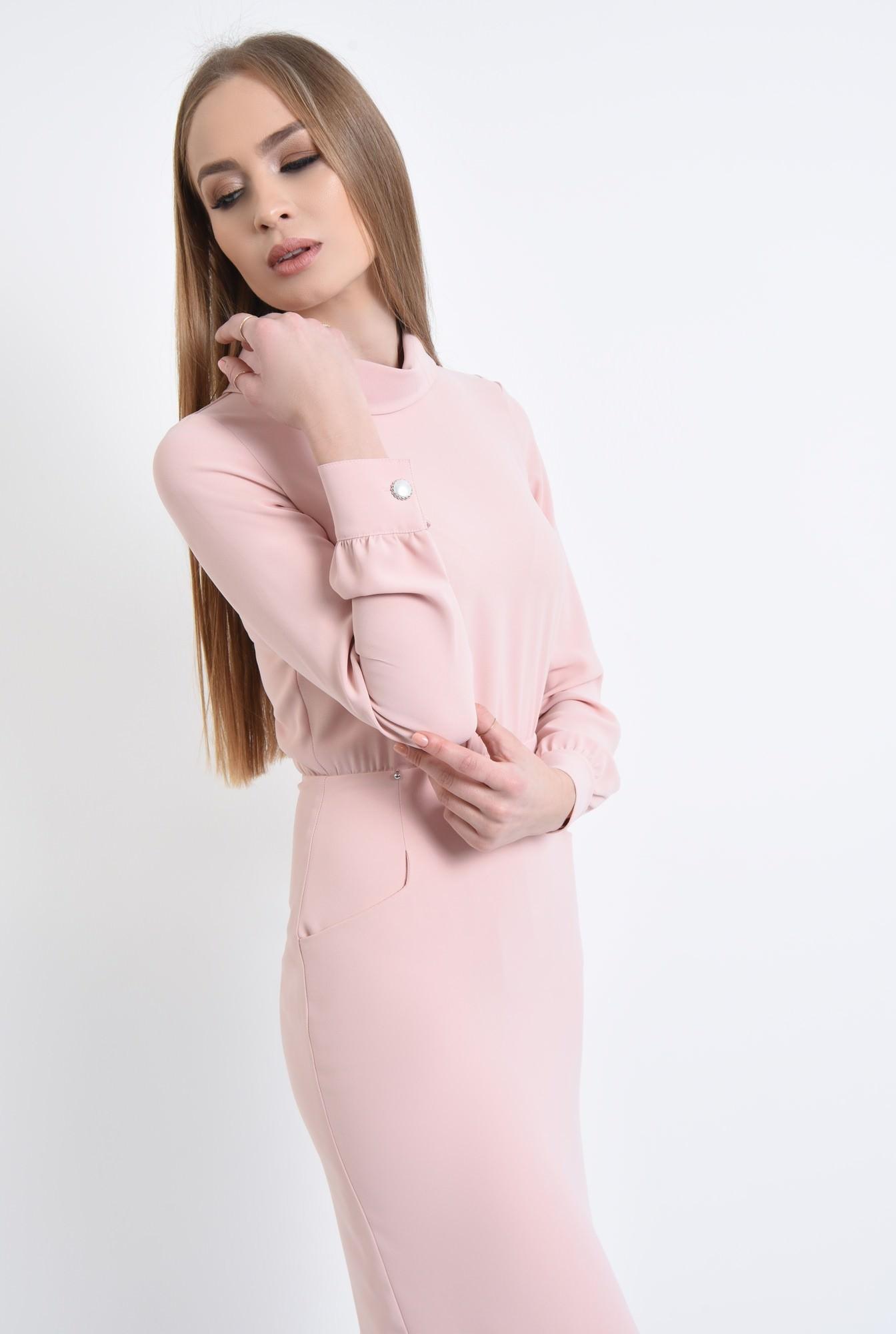 2 - Rochie casual, roz