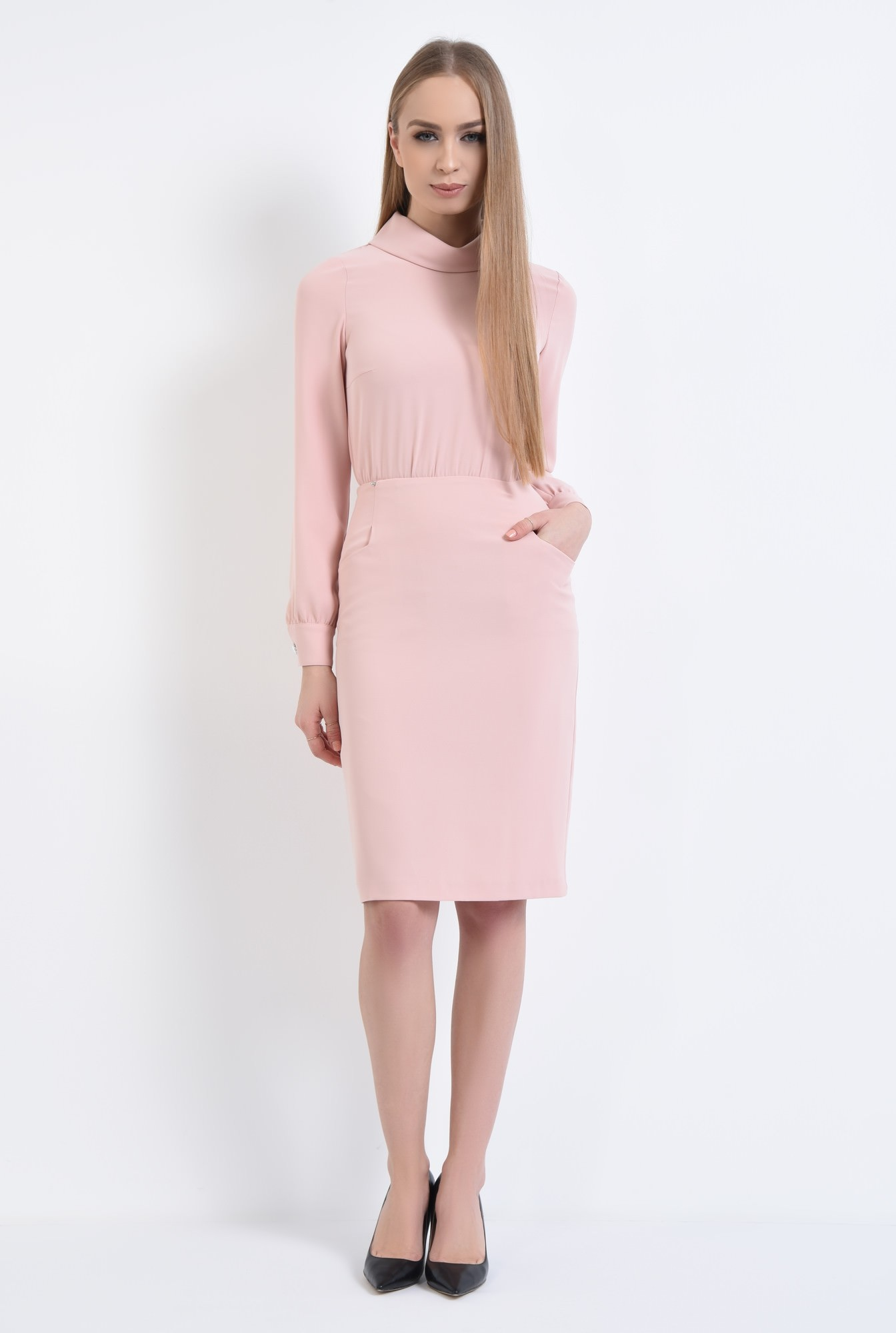 3 - Rochie casual, roz
