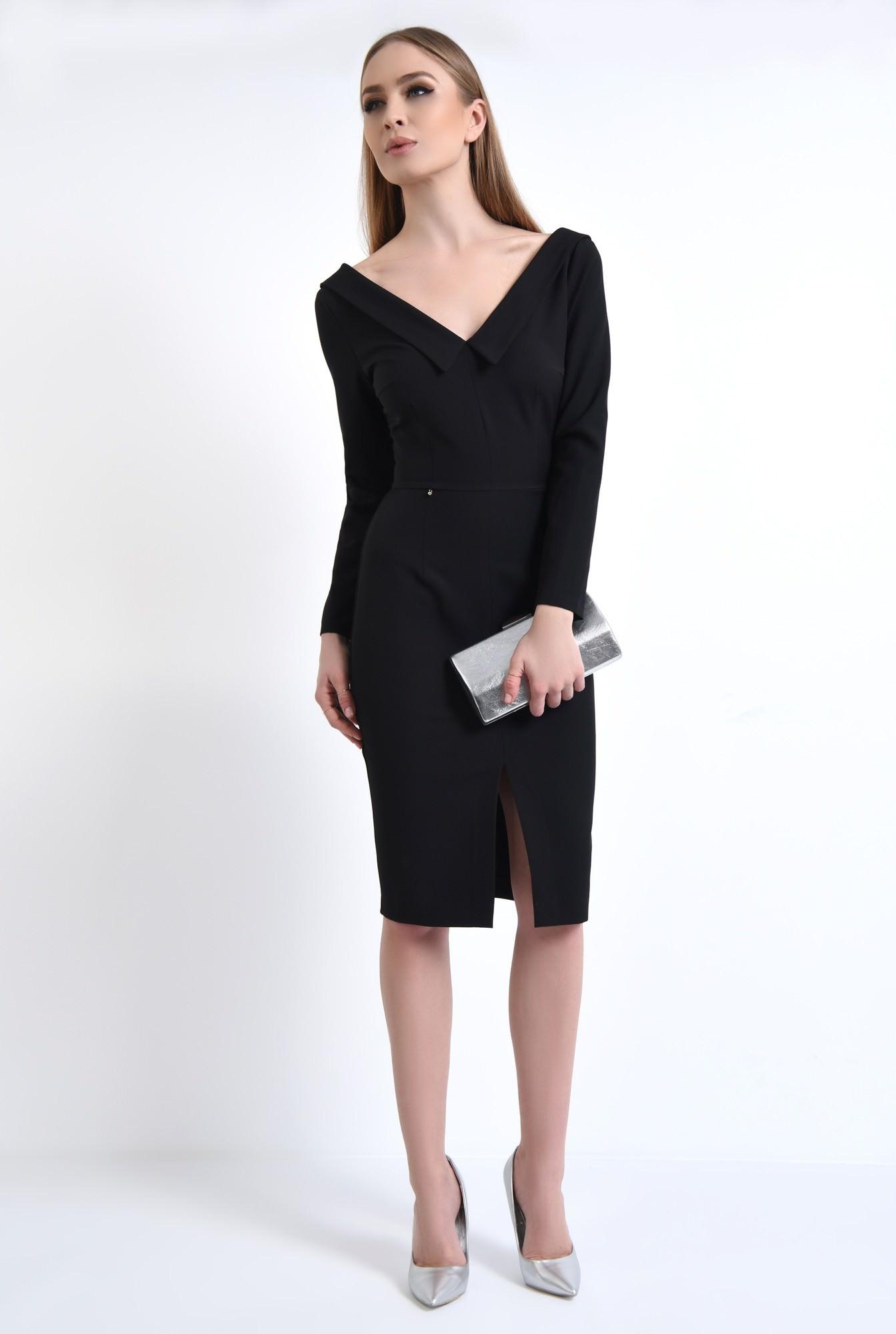 3 - Rochie eleganta neagra, midi